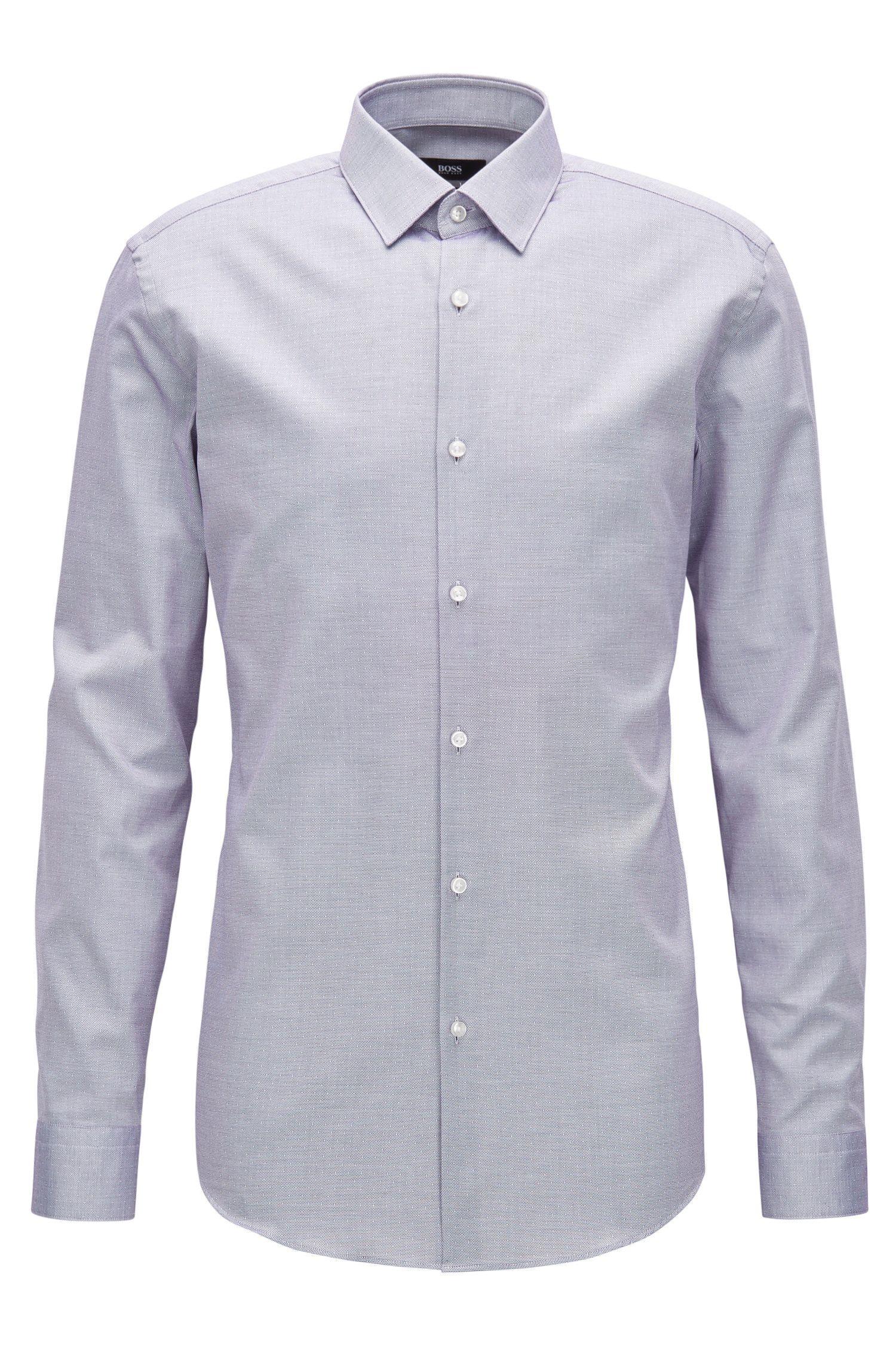 Slim-fit overhemd van katoenen popeline