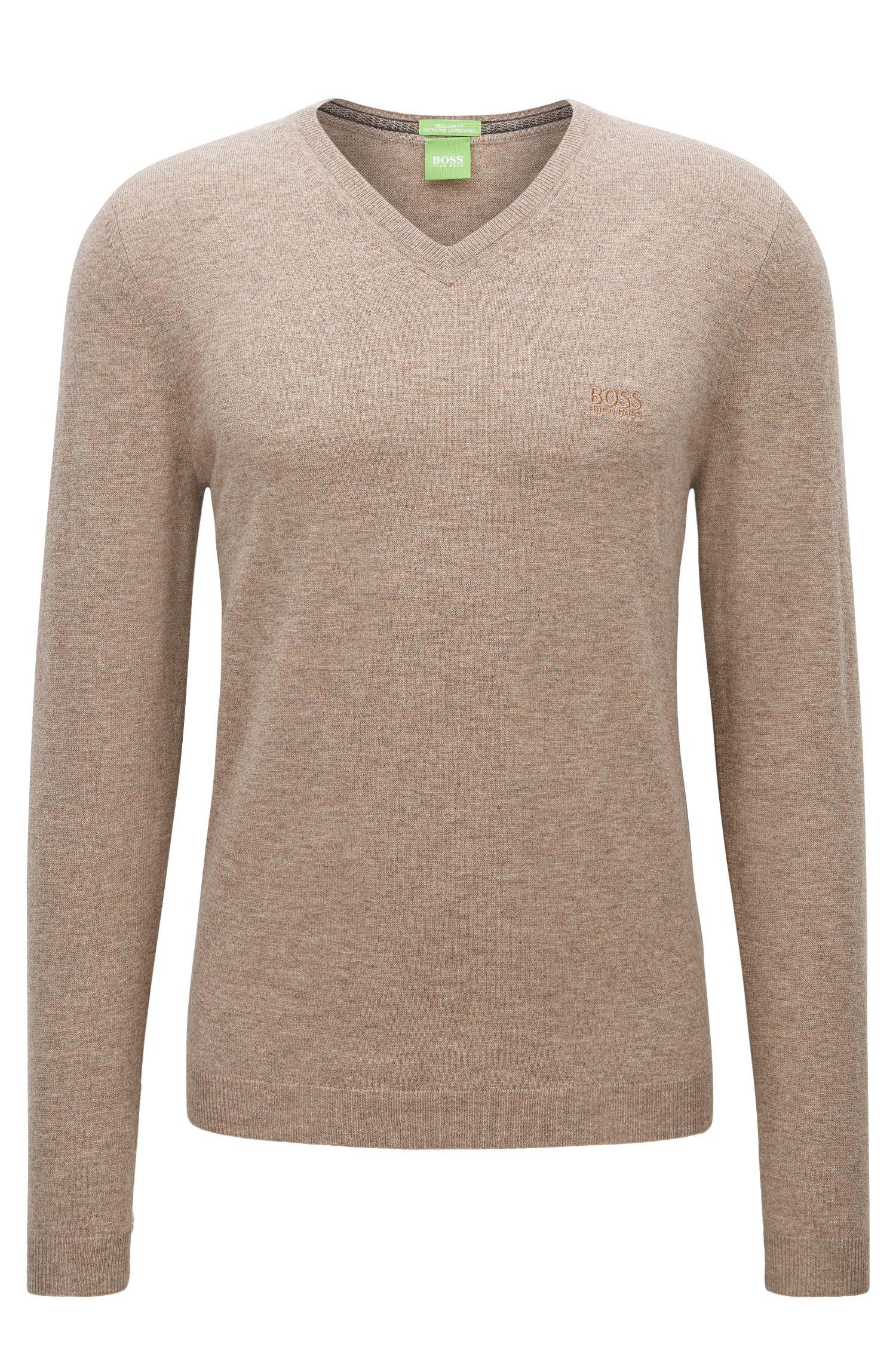 V-neck sweater in virgin wool
