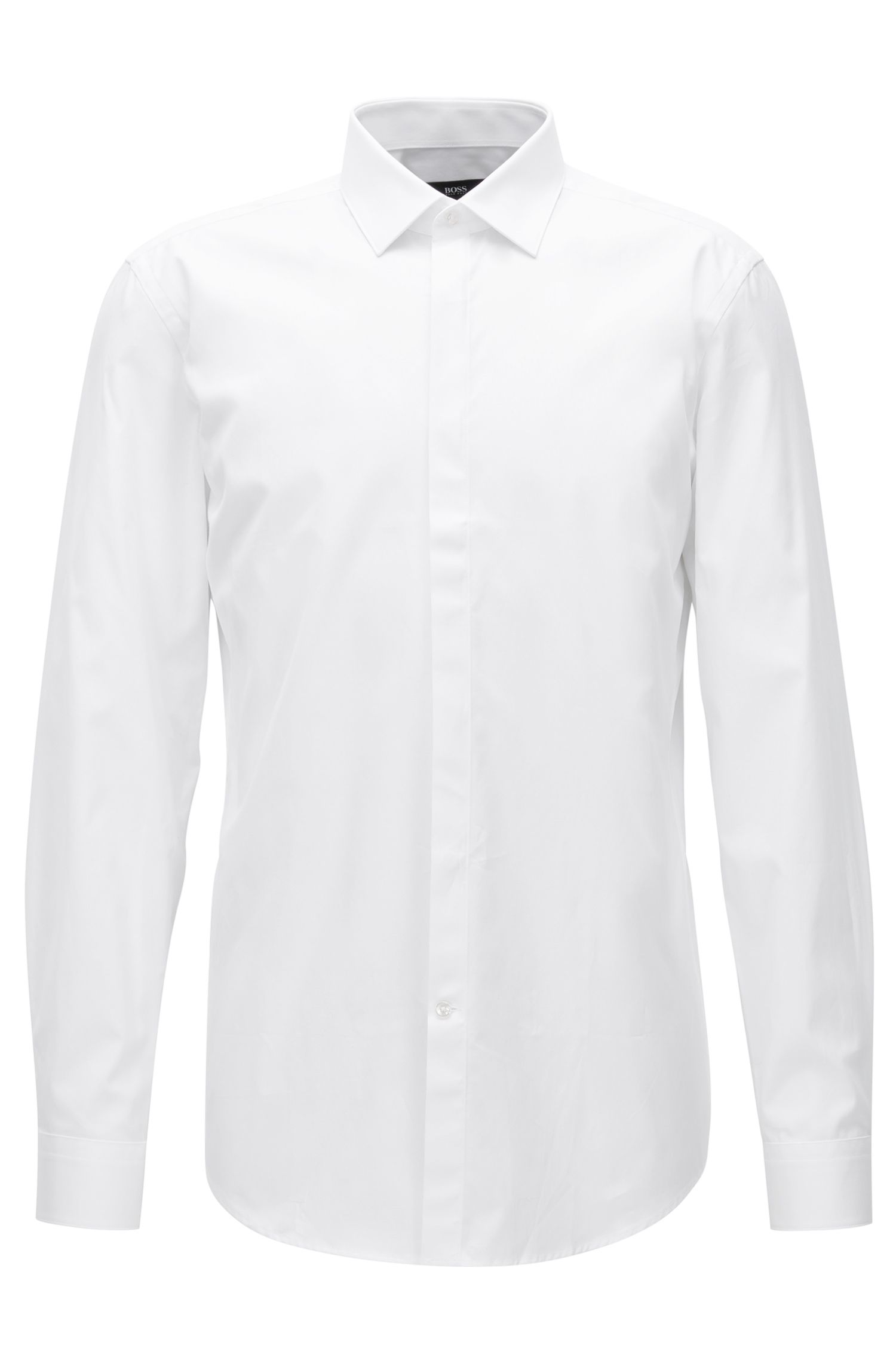 Slim-fit shirt in cotton poplin