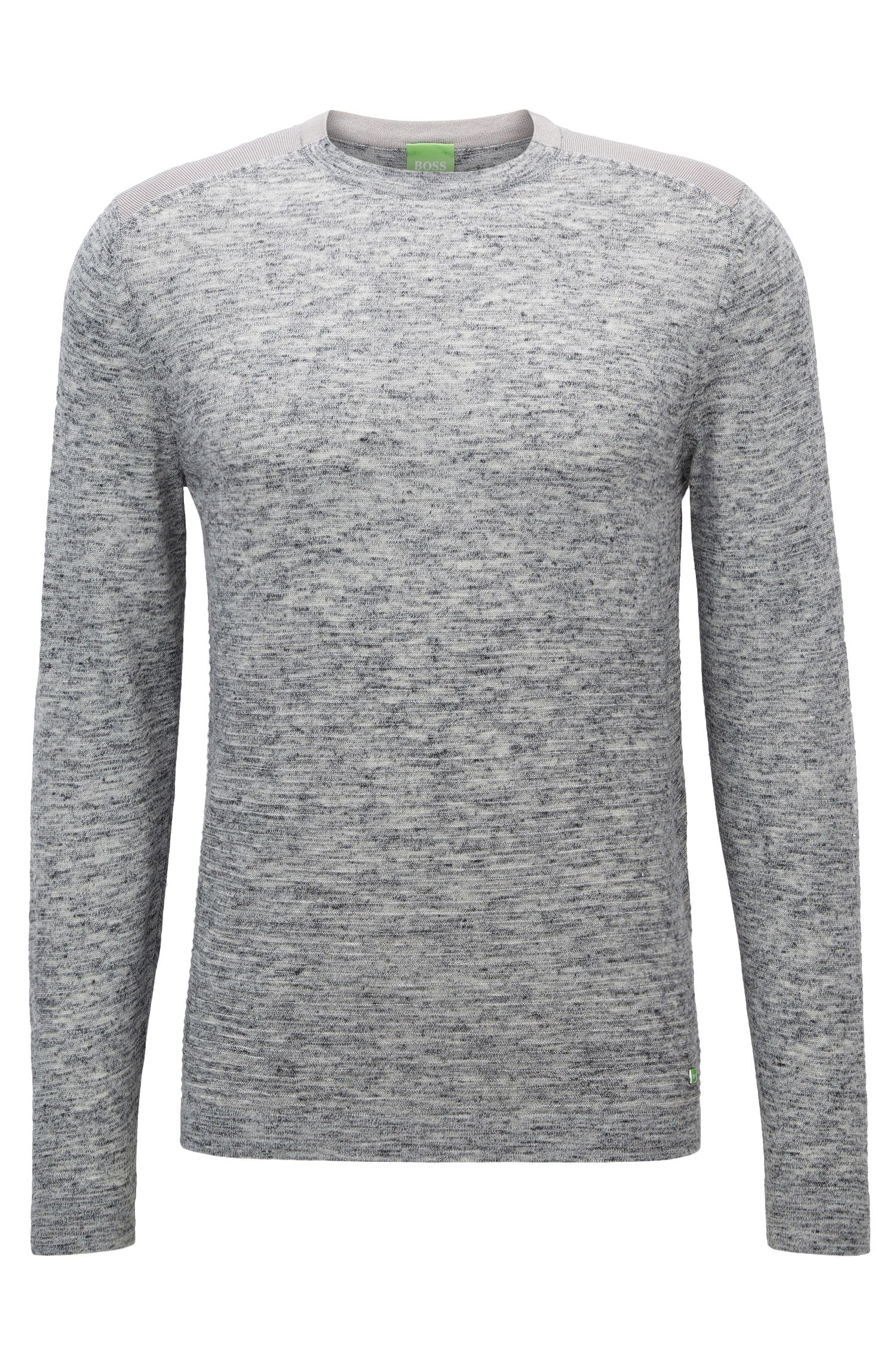Crew-neck sweater in knitted fabric