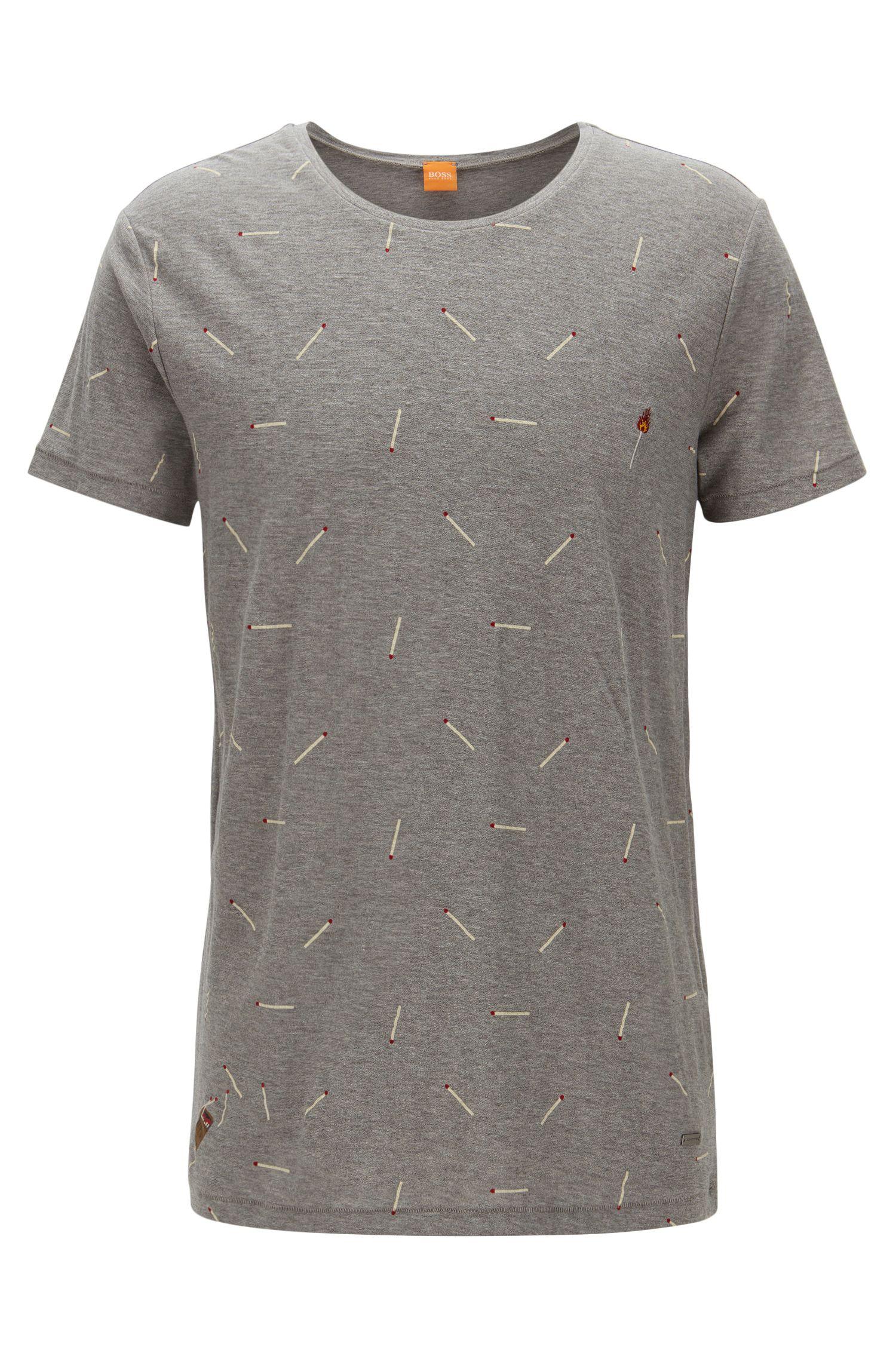 T-shirt relaxed fit in jersey slub yarn