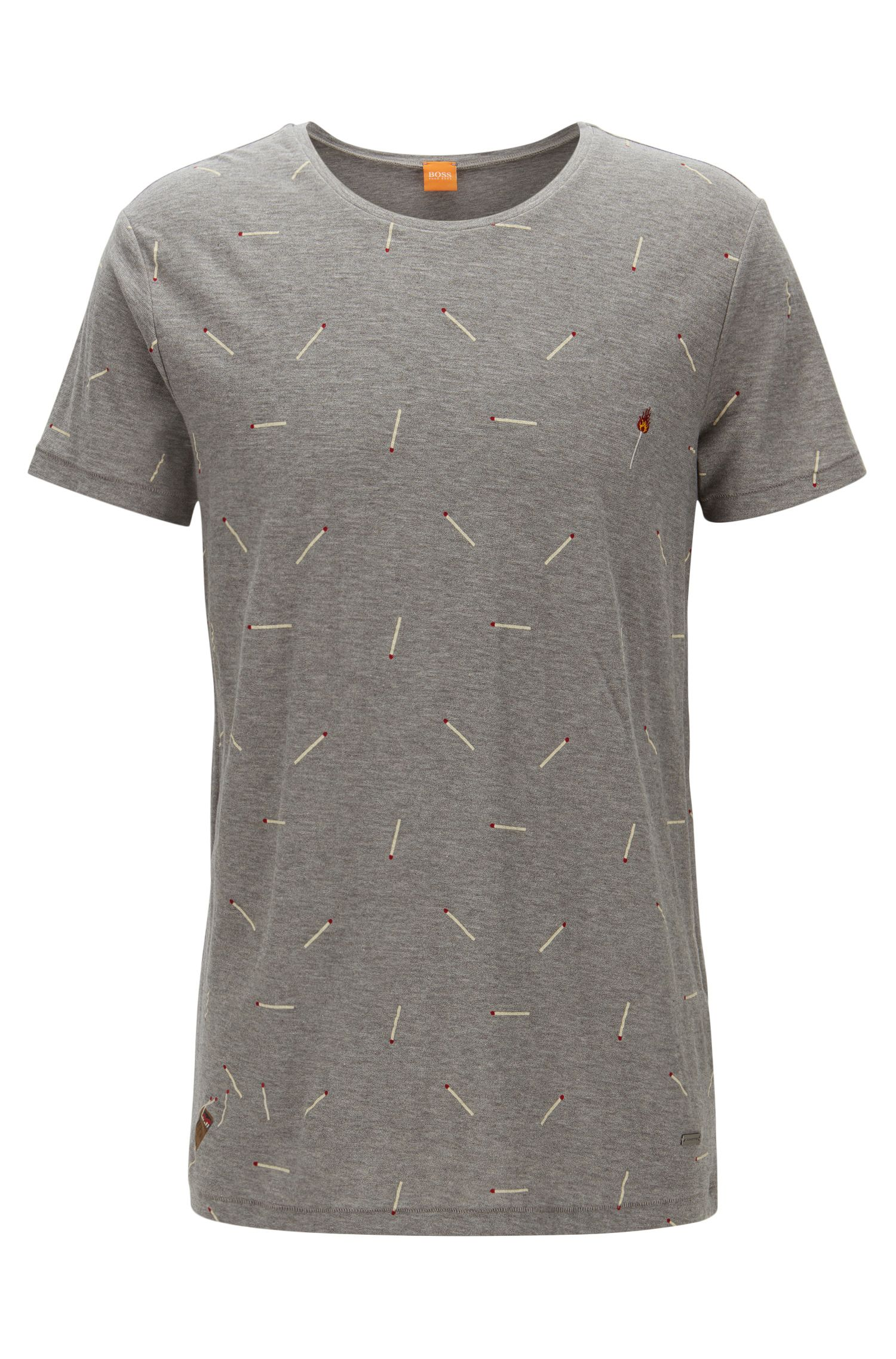 Relaxed-fit T-shirt in slub yarn jersey