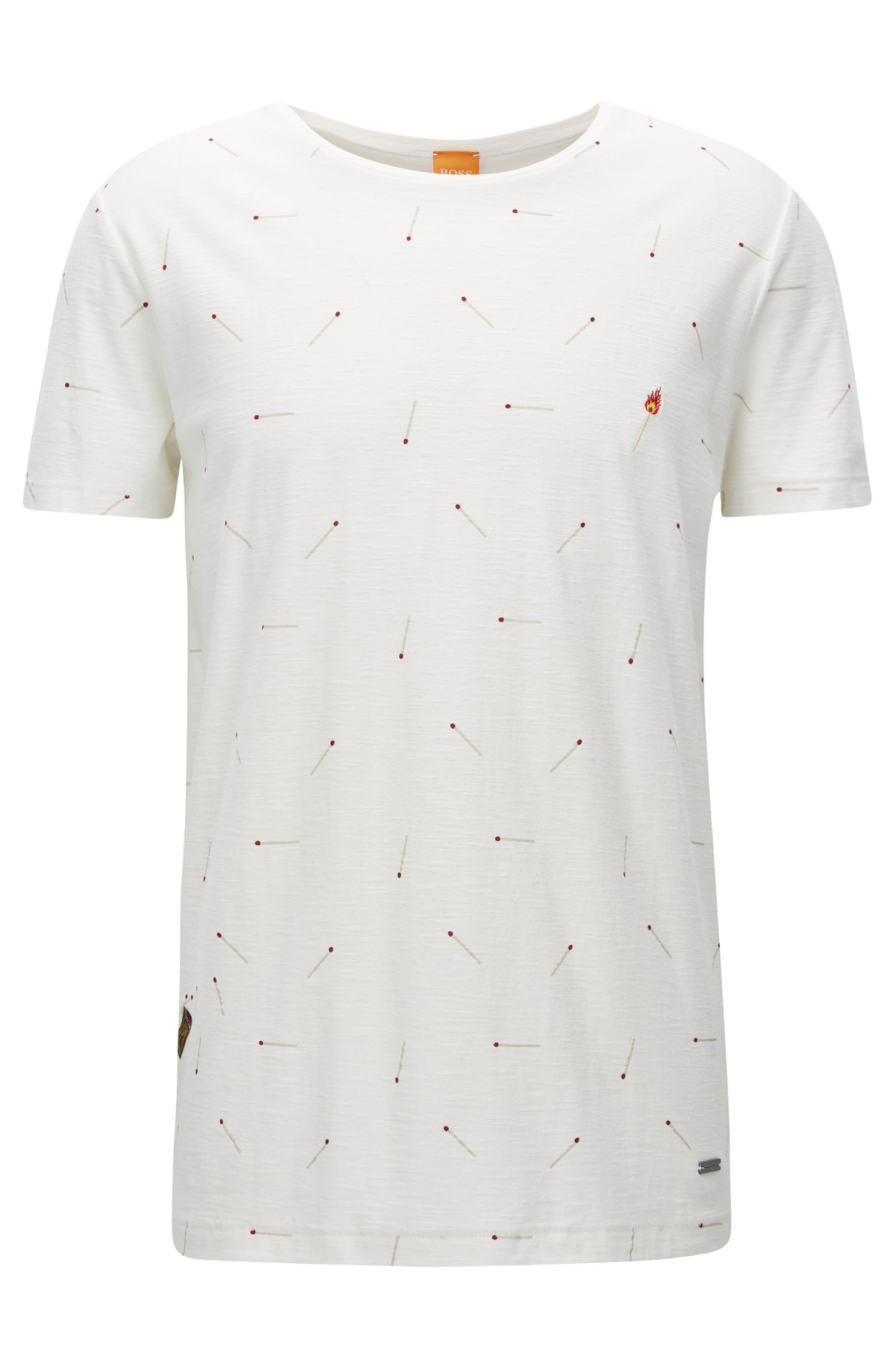 Relaxed-Fit T-Shirt aus strukturiertem Baumwoll-Jersey