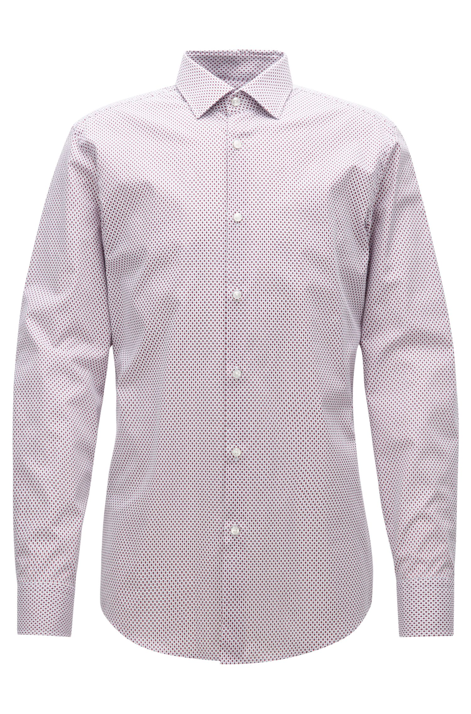 Slim-fit shirt in two-tone poplin