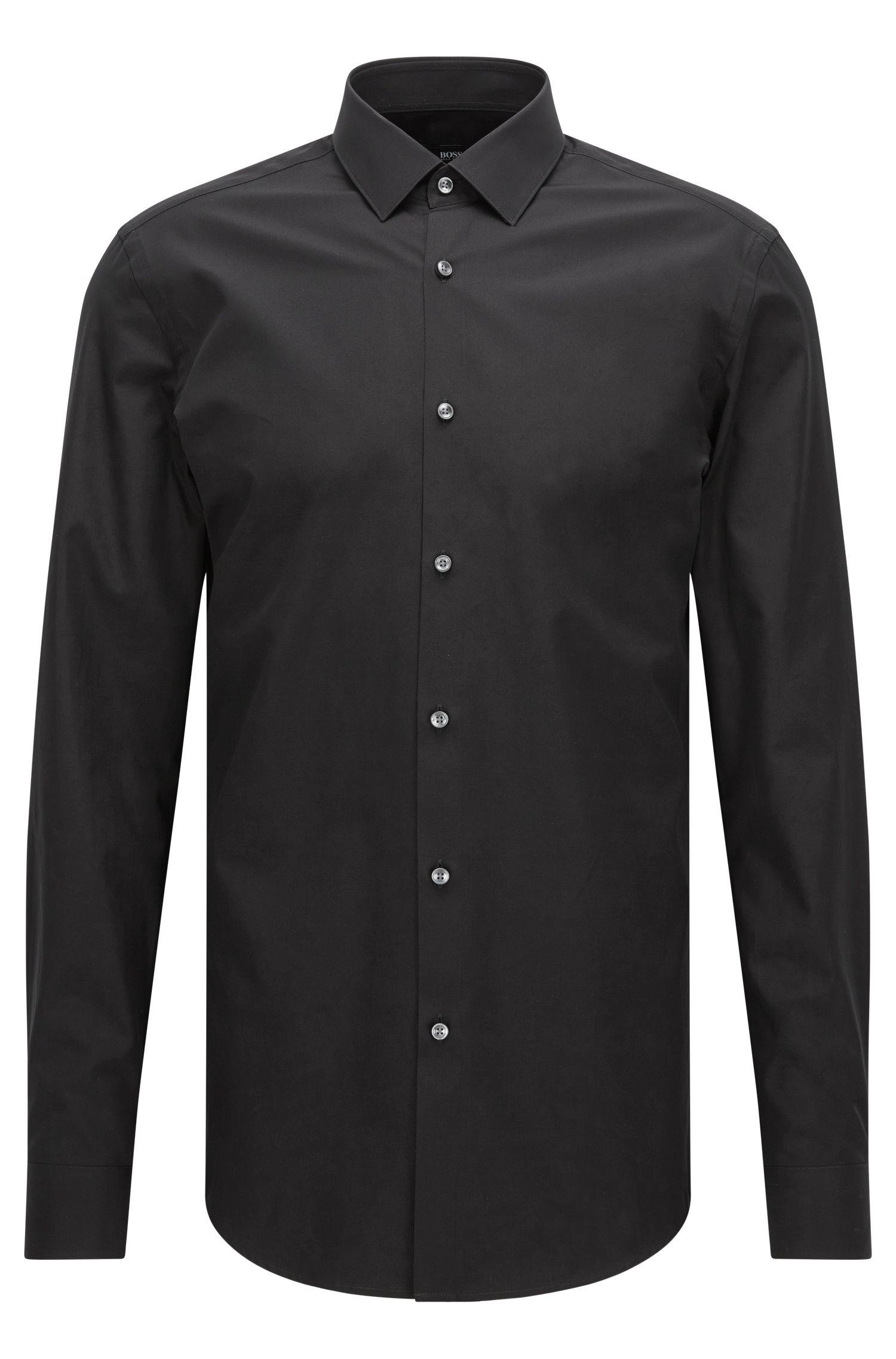 Slim-fit overhemd van zuivere katoen