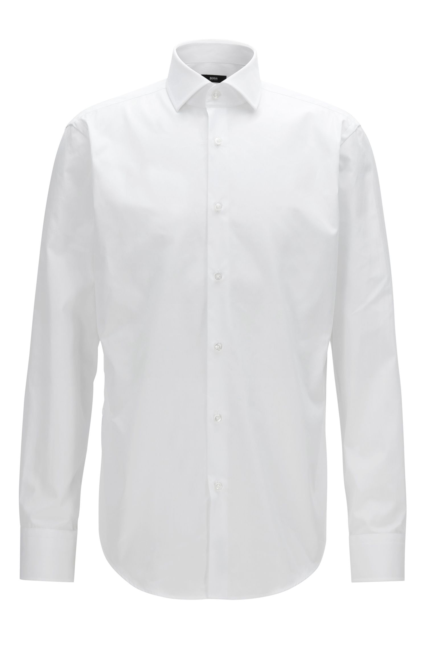 Chemise Regular Fit en coton double retors