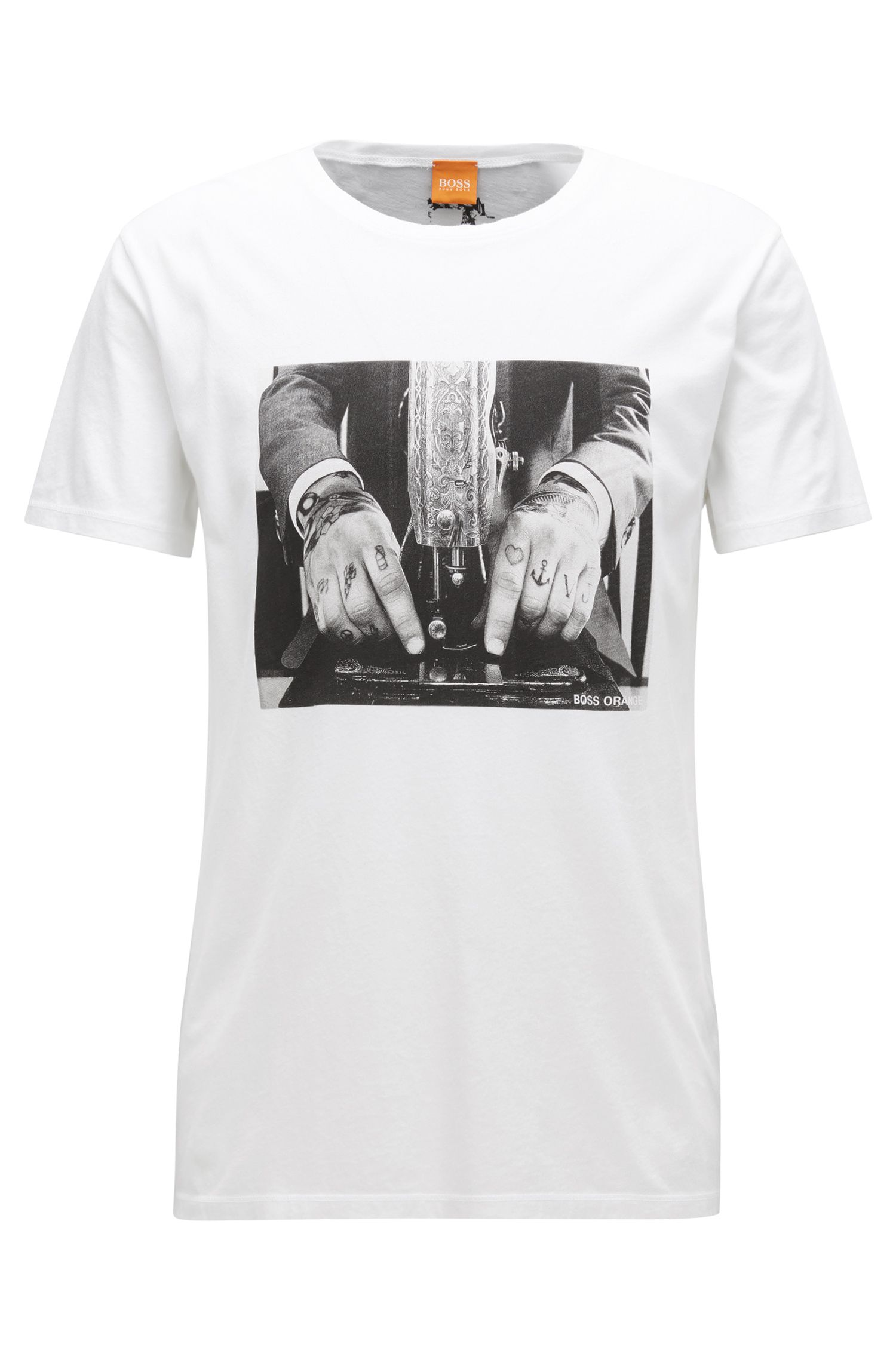 Relaxed-Fit T-Shirt aus Baumwolle im Used Look
