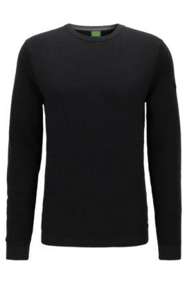 Regular-Fit Pullover aus Schurwolle , Schwarz