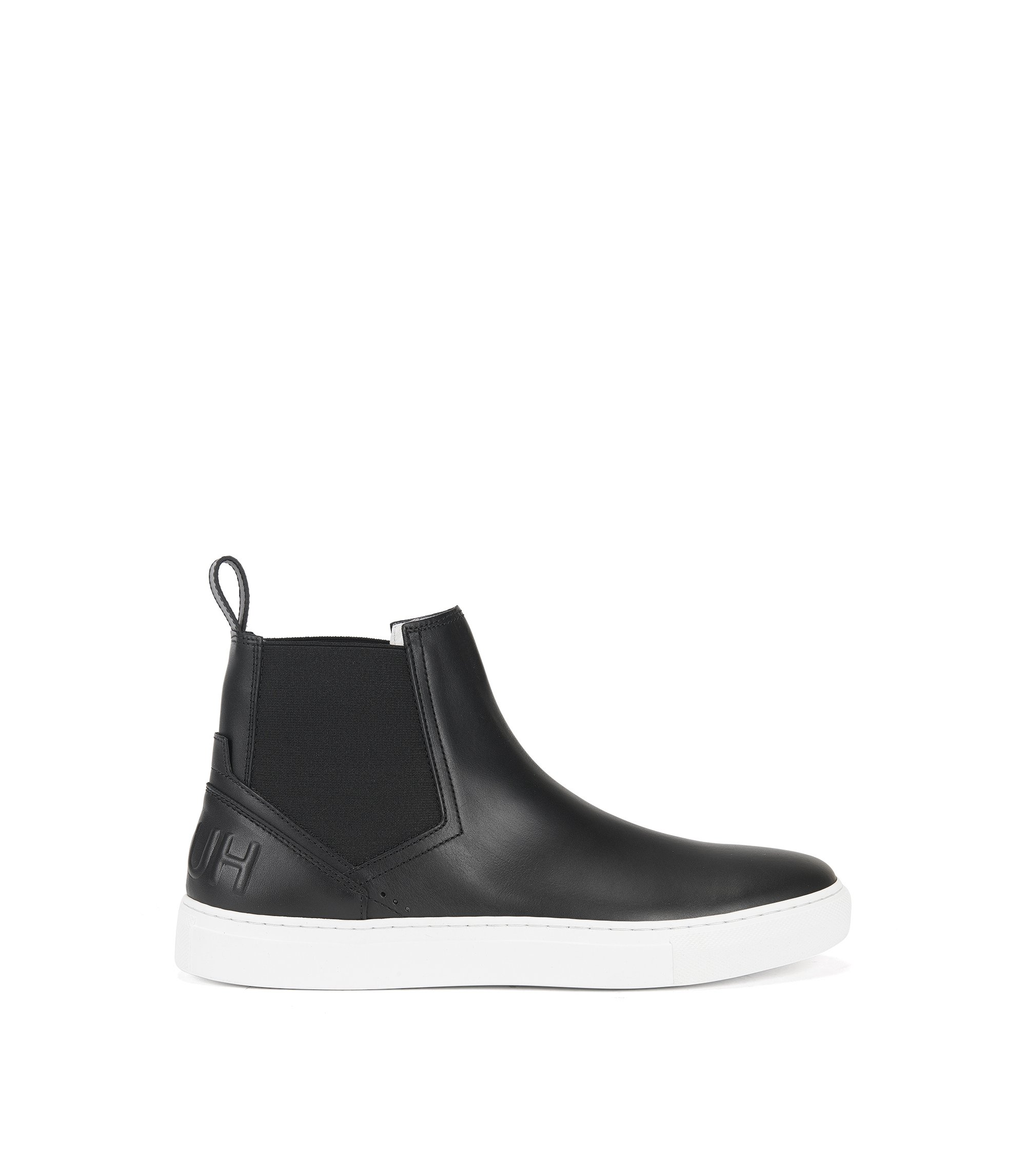 Chelsea-boot trainers in soft leather , Black