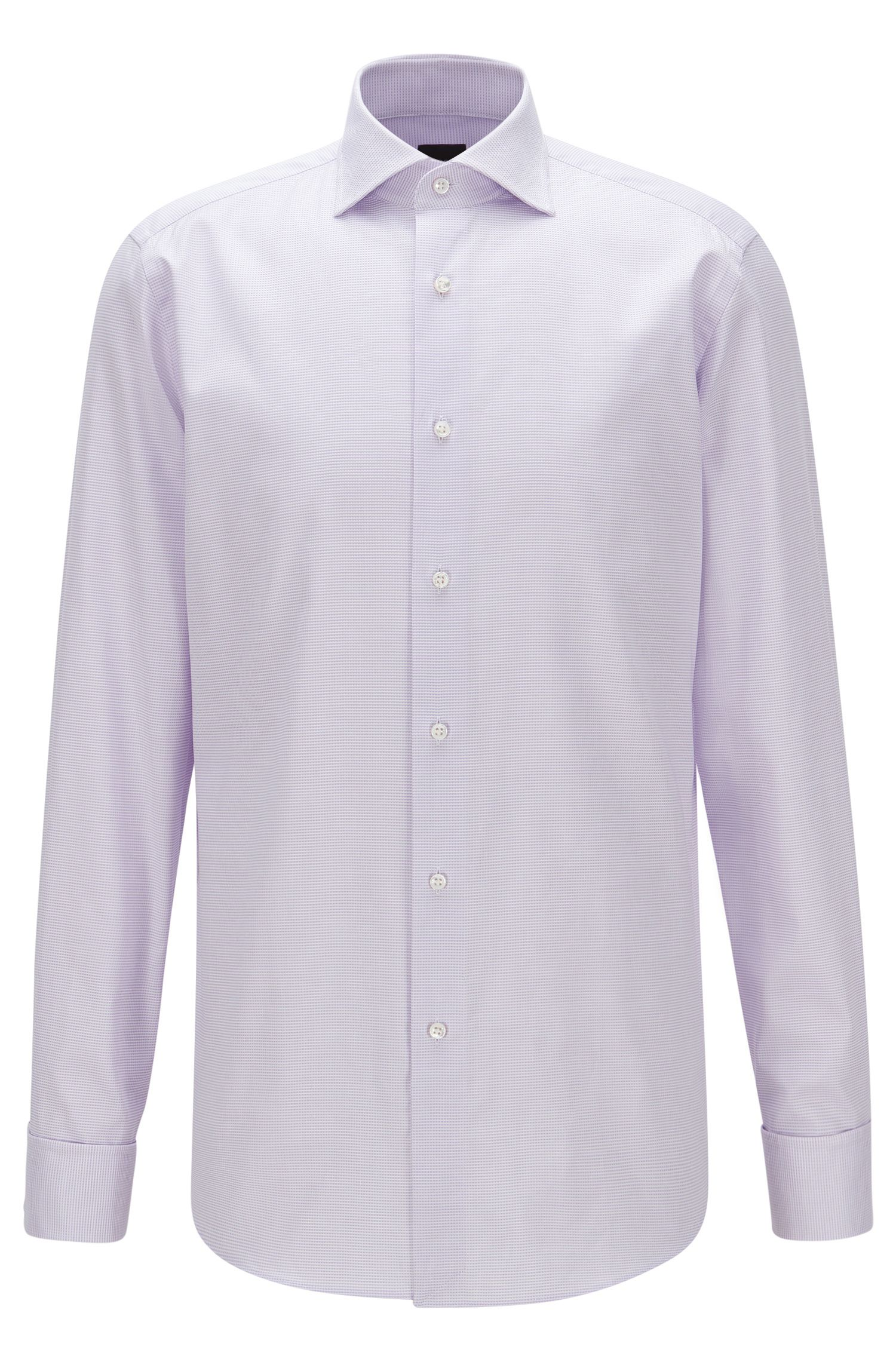 Chemise Regular Fit en coton microstructuré
