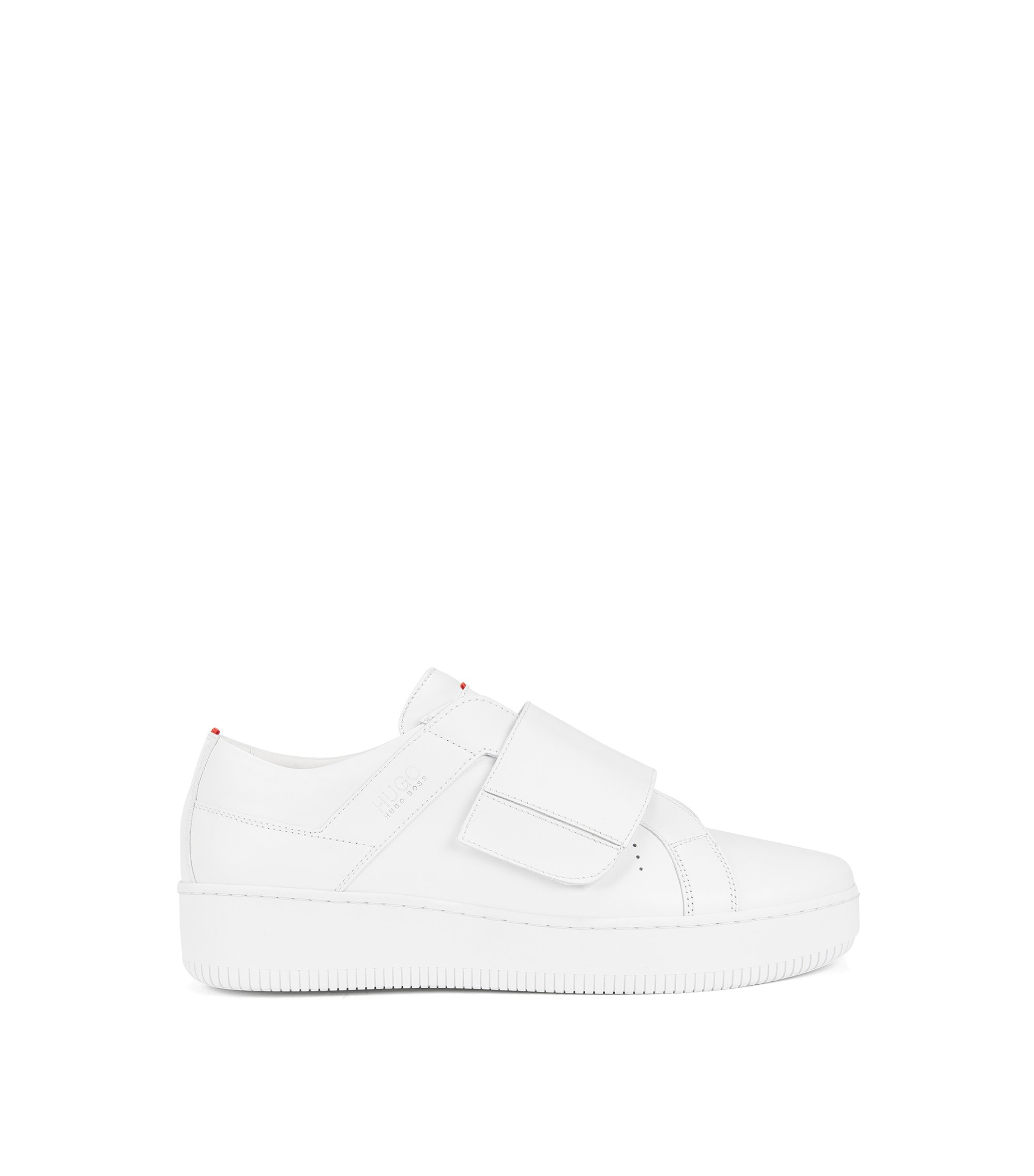 Riptape trainers in Italian leather, White