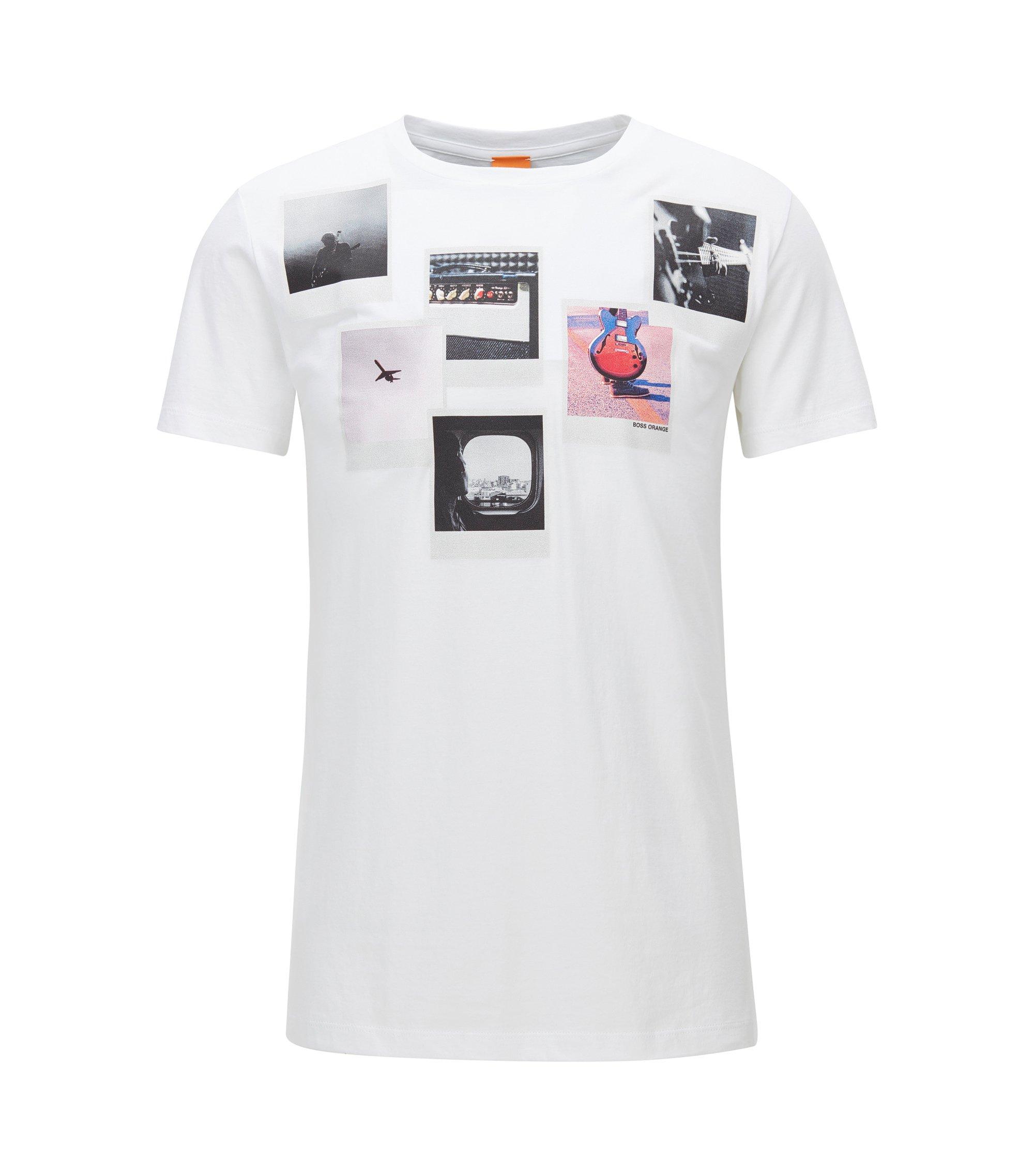 Regular-Fit T-Shirt aus Pima-Baumwolle, Weiß
