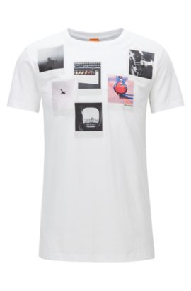 T-shirt Regular Fit en coton Pima, Blanc