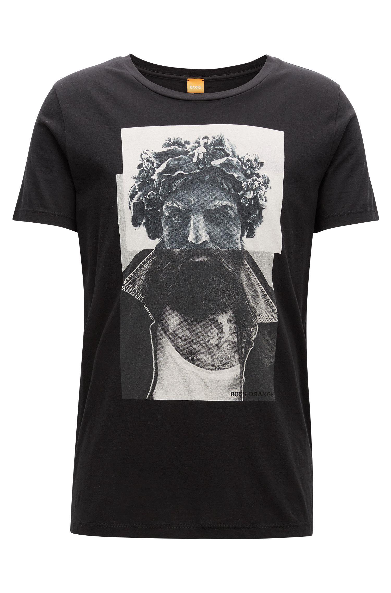 Regular-Fit T-Shirt aus Baumwolle mit Digitaldruck