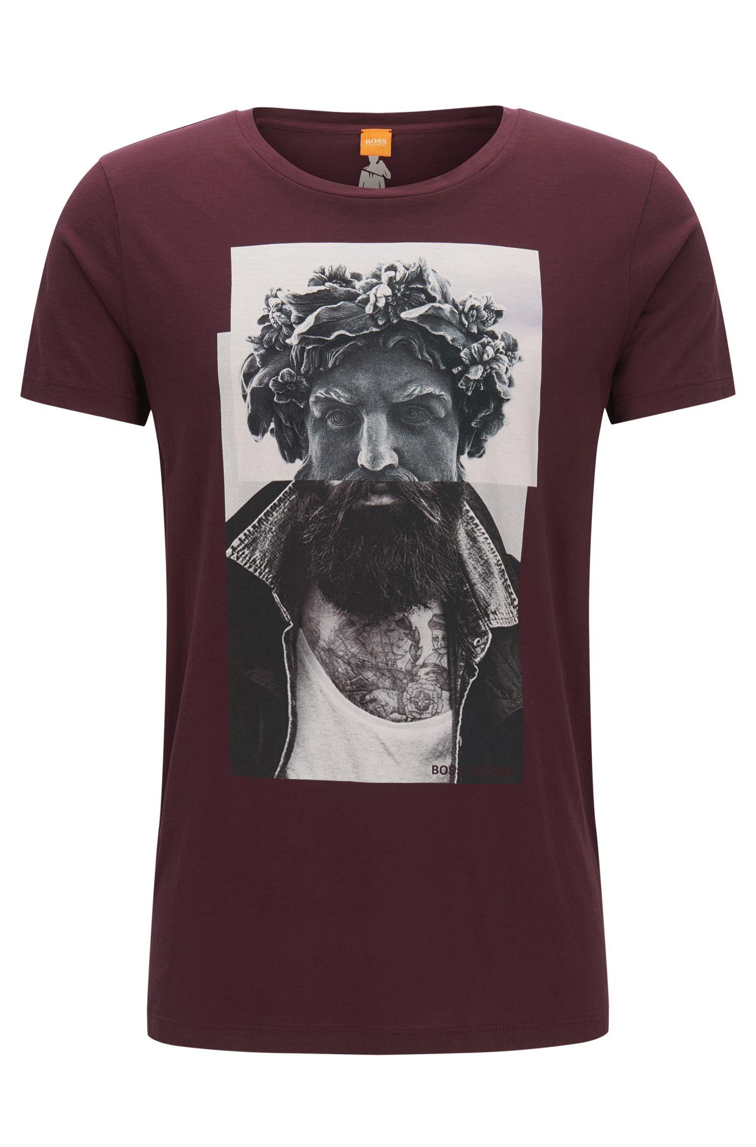 T-shirt Regular Fit en coton à imprimé numérique