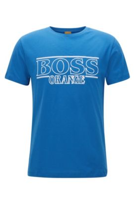 T-shirt Regular Fit en coton, Bleu