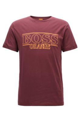 T-shirt Regular Fit en coton, Rouge sombre
