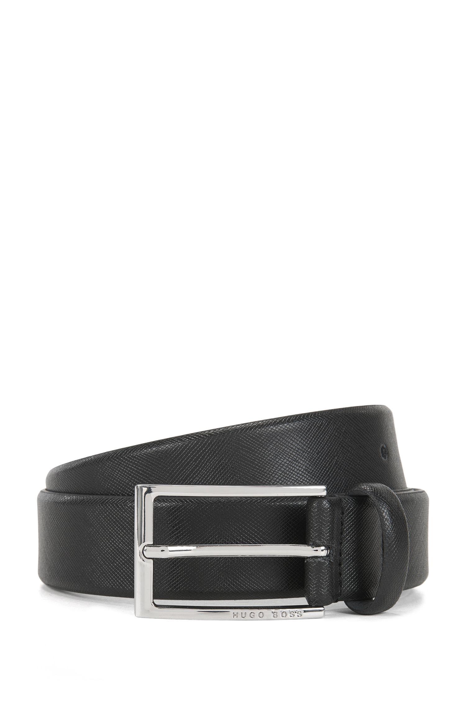 Cinturón business en piel Saffiano