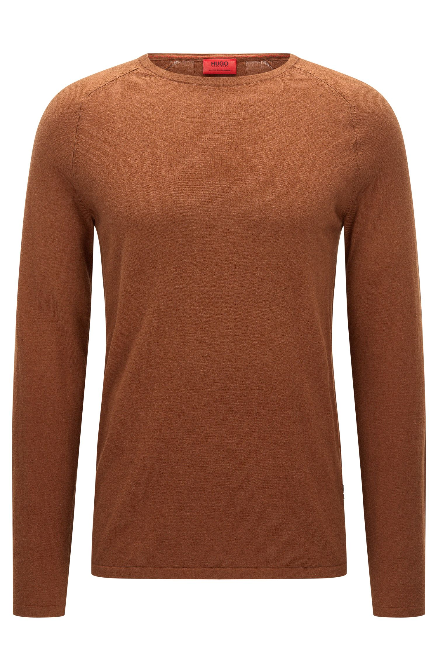 Crew neck sweater in a cotton blend