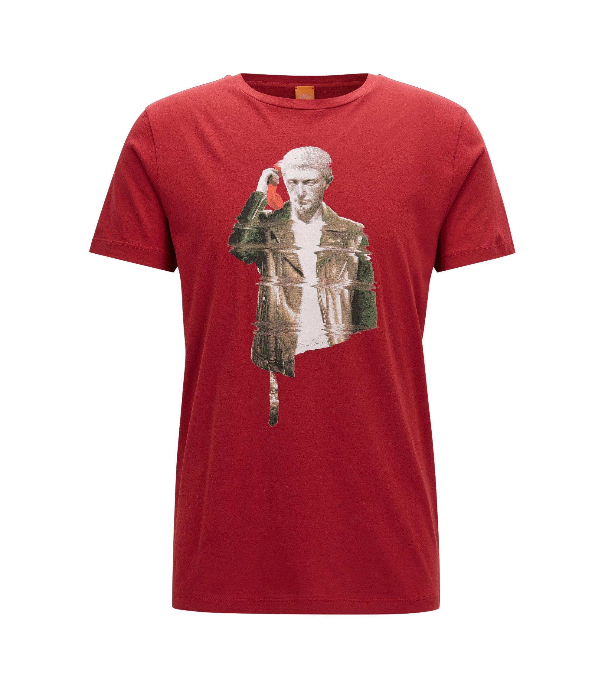 Regular-Fit T-Shirt aus Pima-Baumwolle, Rot