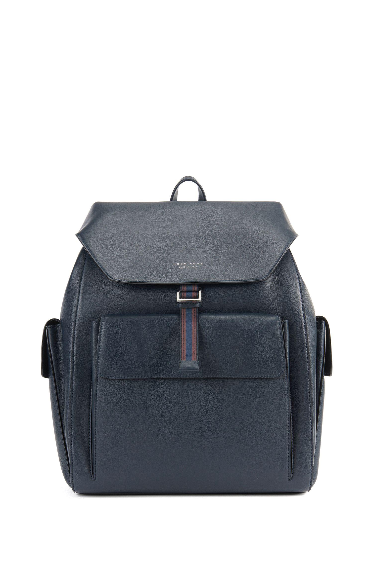 Strukturierter Rucksack aus italienischem Leder