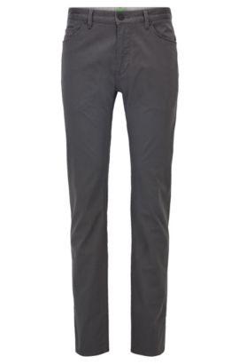 Jeans Regular Fit en denim brossé imprimé, Gris