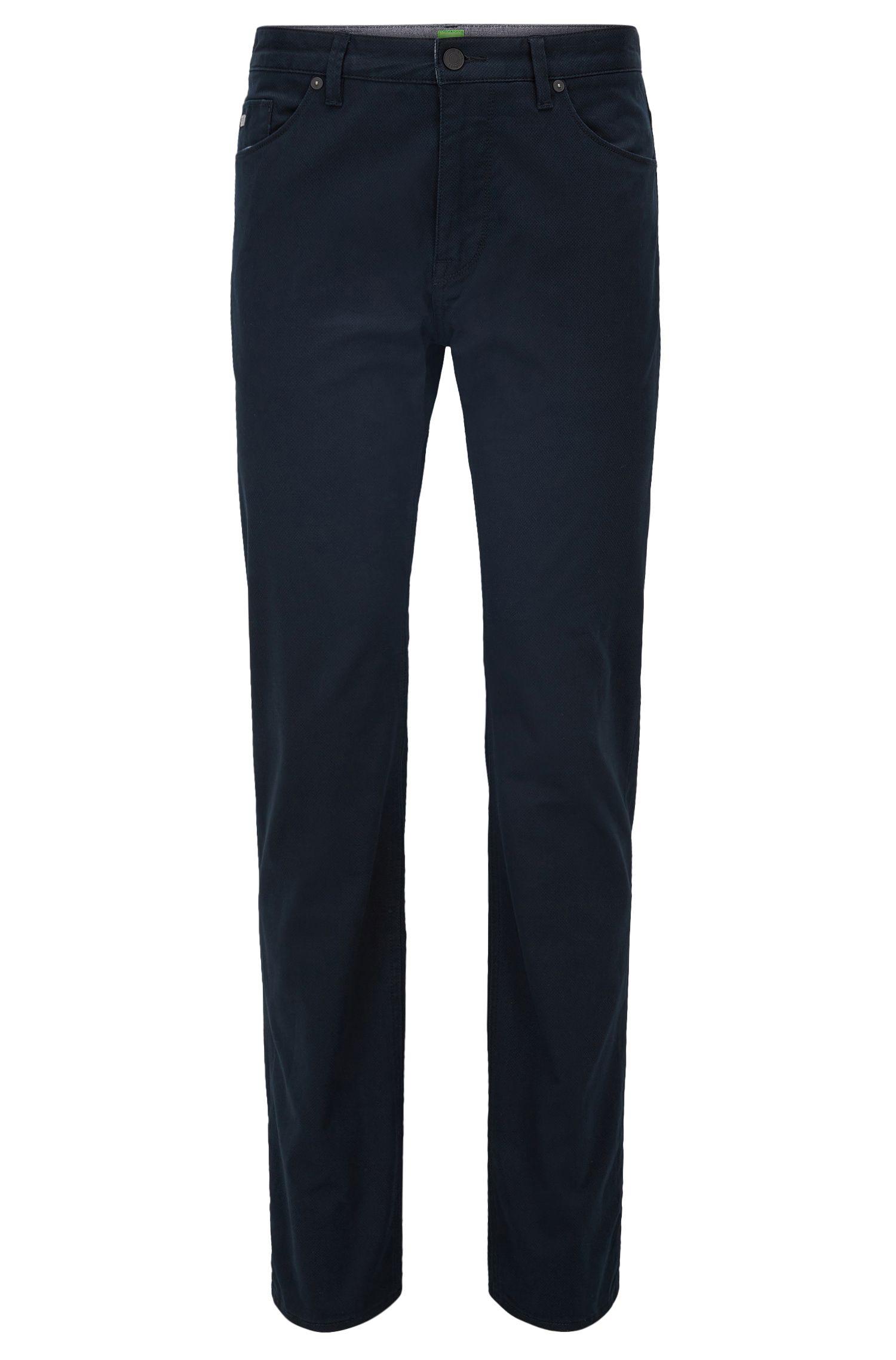 Regular-fit jeans van geborsteld denim met print