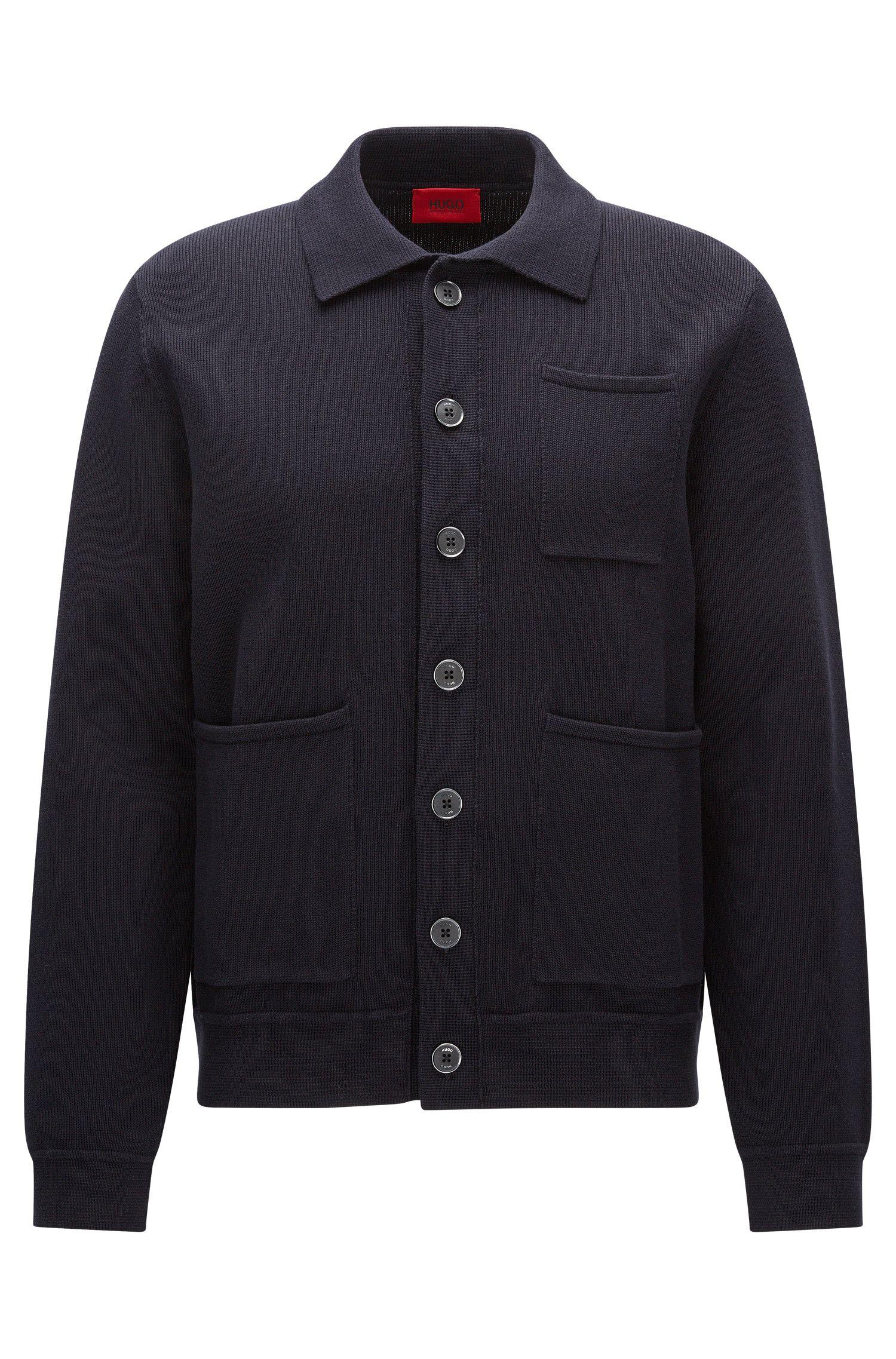 Oversize Jacke aus fester Baumwolle