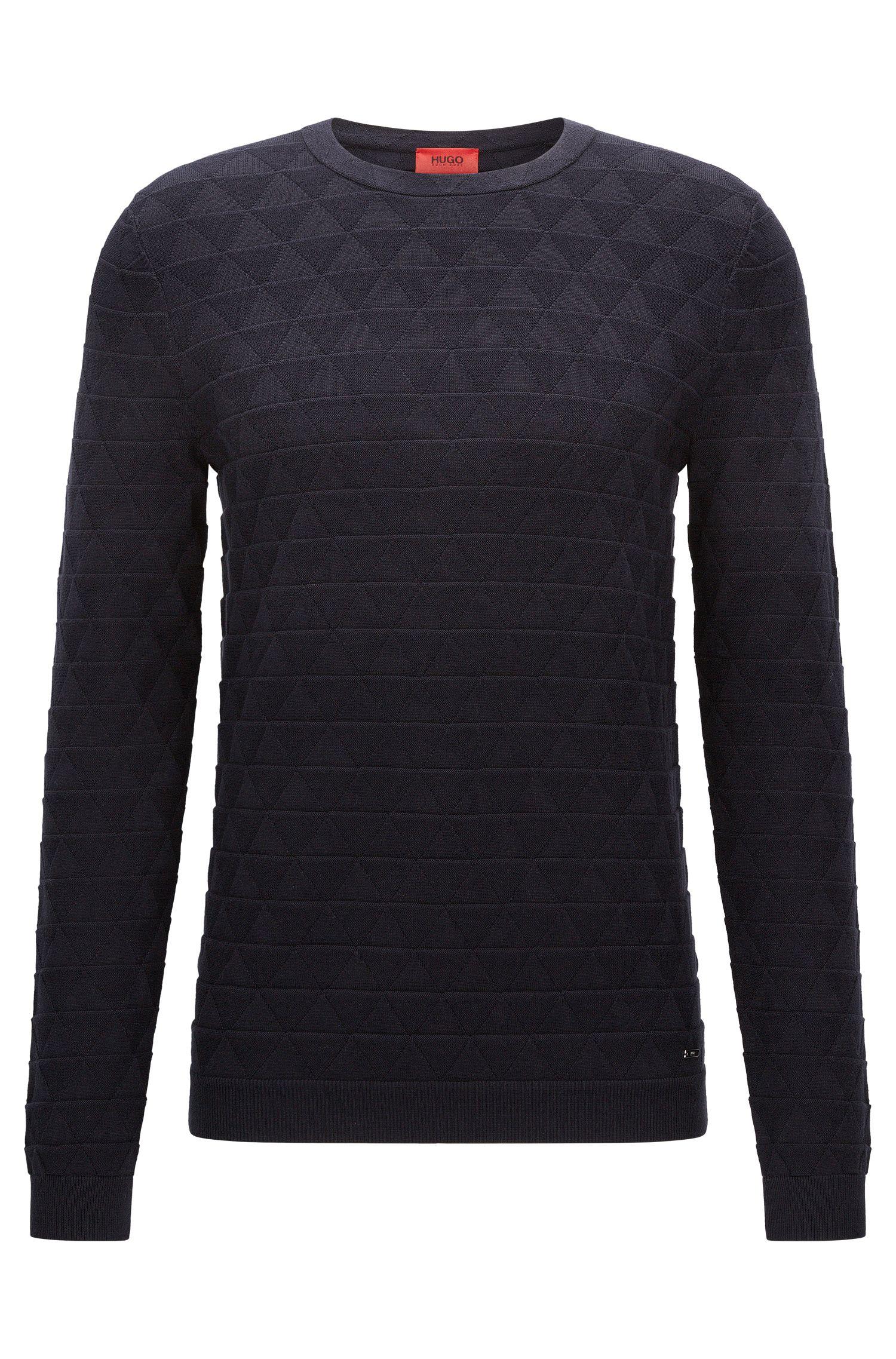 Jersey de algodón slim fit con estructura 3D
