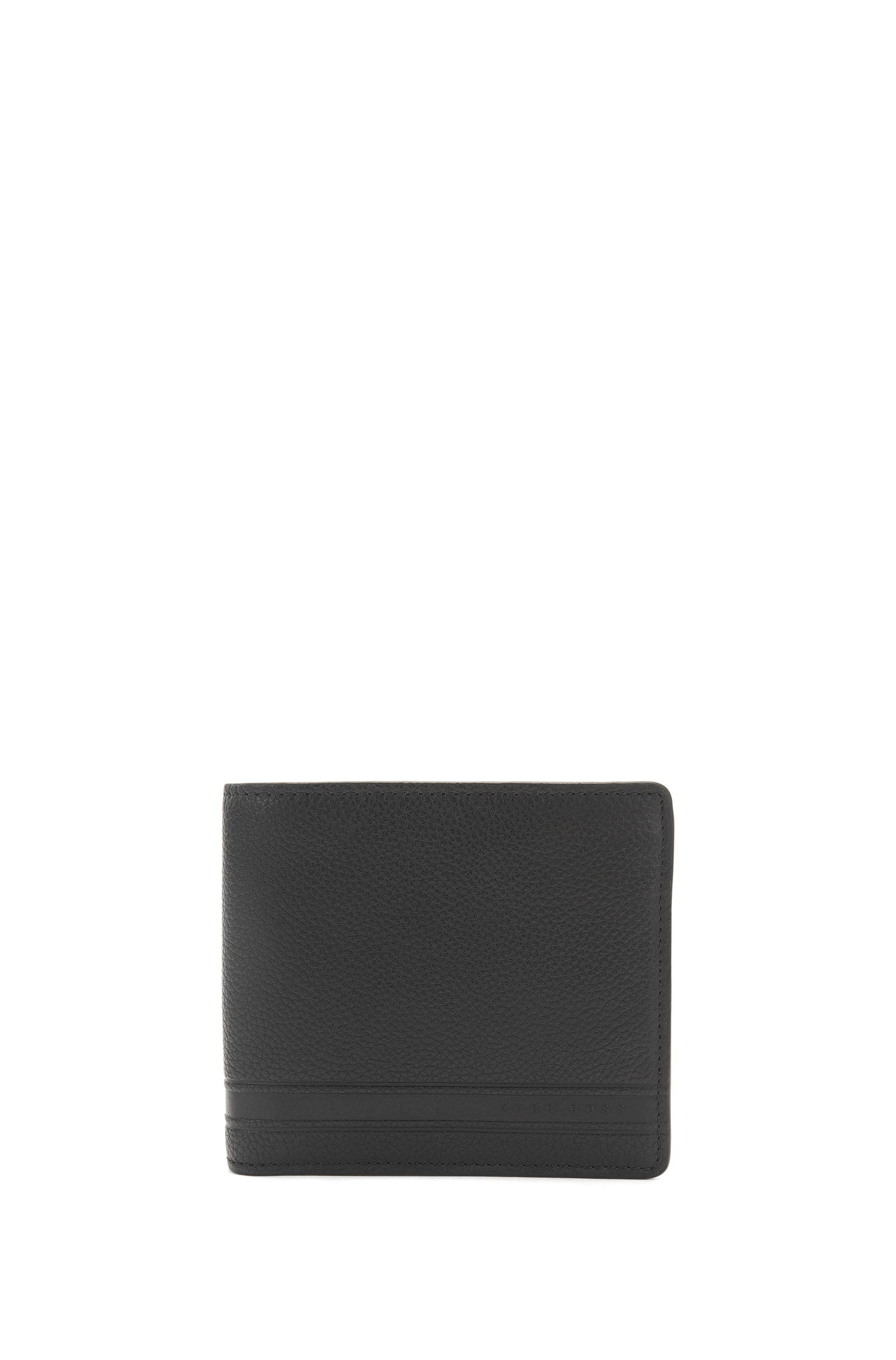 Leather card case and wallet gift set with embossing