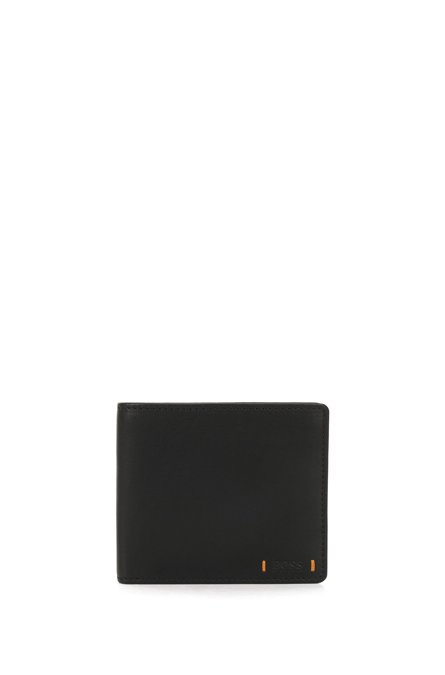 Eight-card bifold wallet in lustrous leather