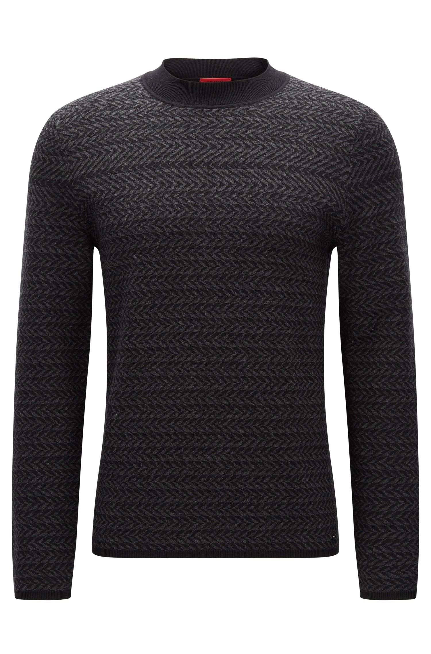 Horizontal structured sweater in a cotton blend