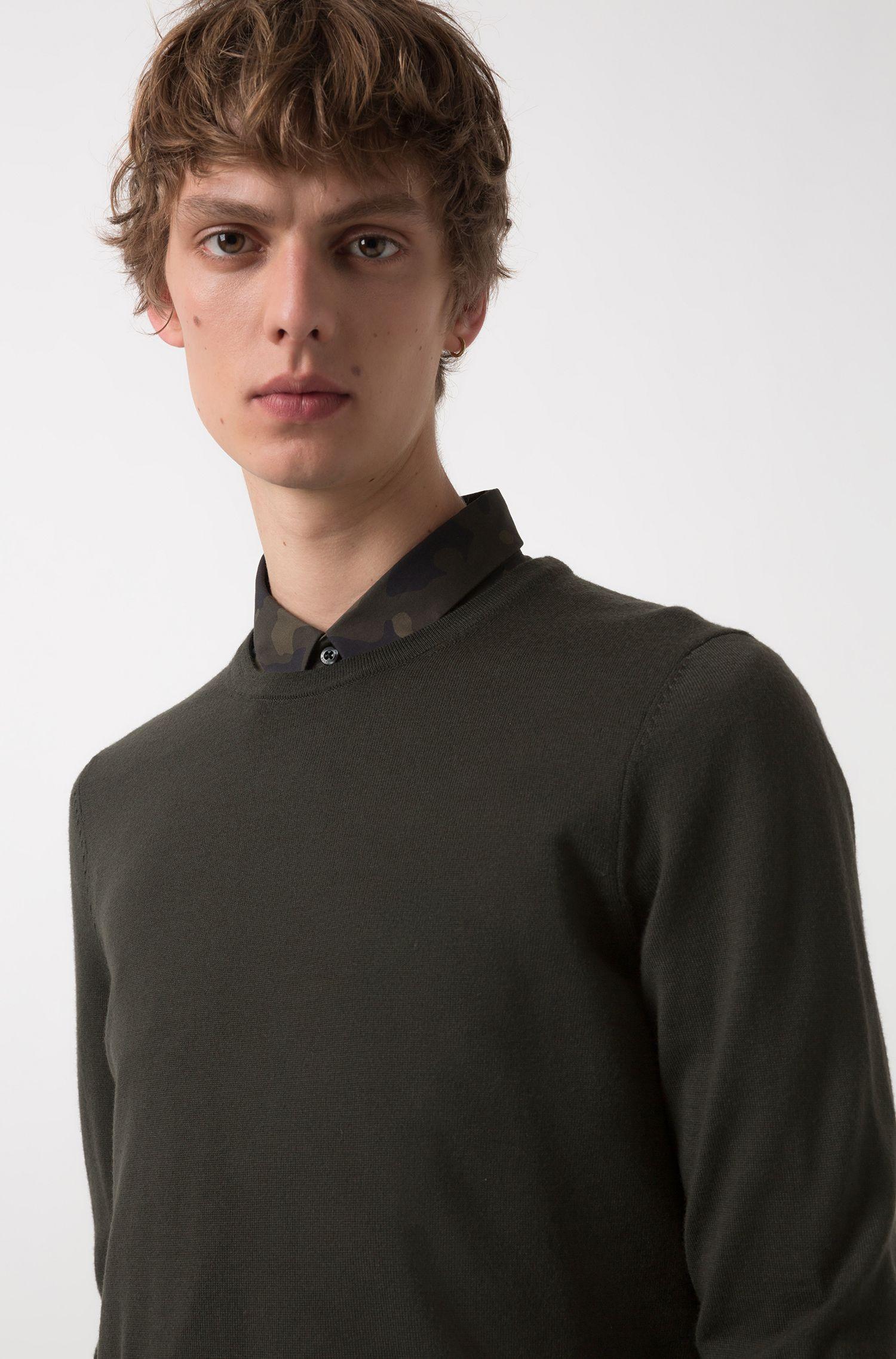 Maglione a girocollo in lana merino