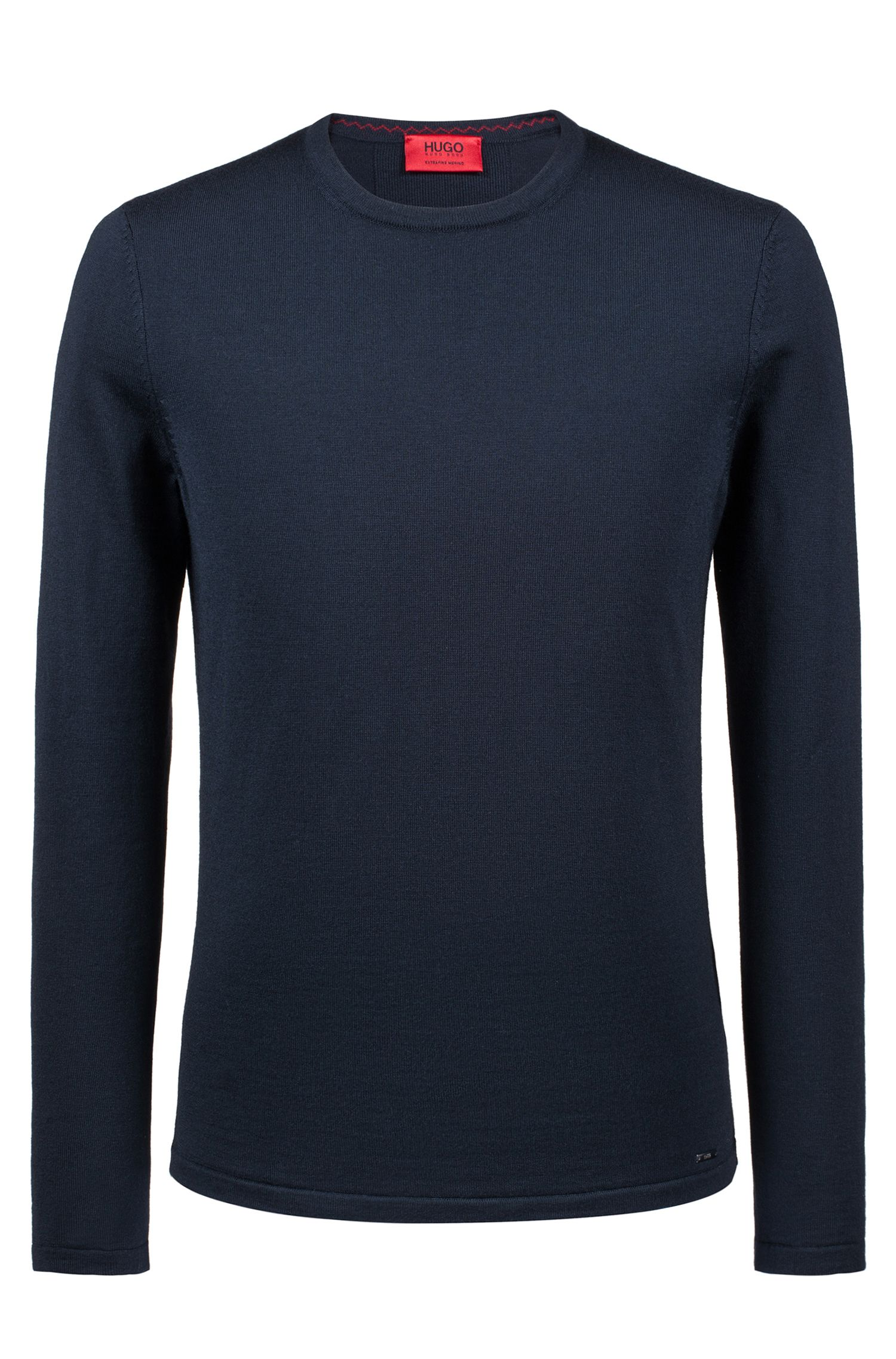 Crew-neck sweater in Merino wool