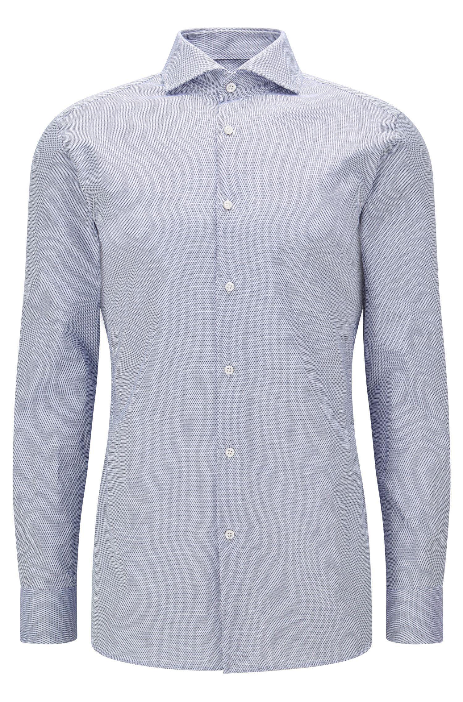 Slim-Fit-Hemd aus dezent strukturierter Baumwolle