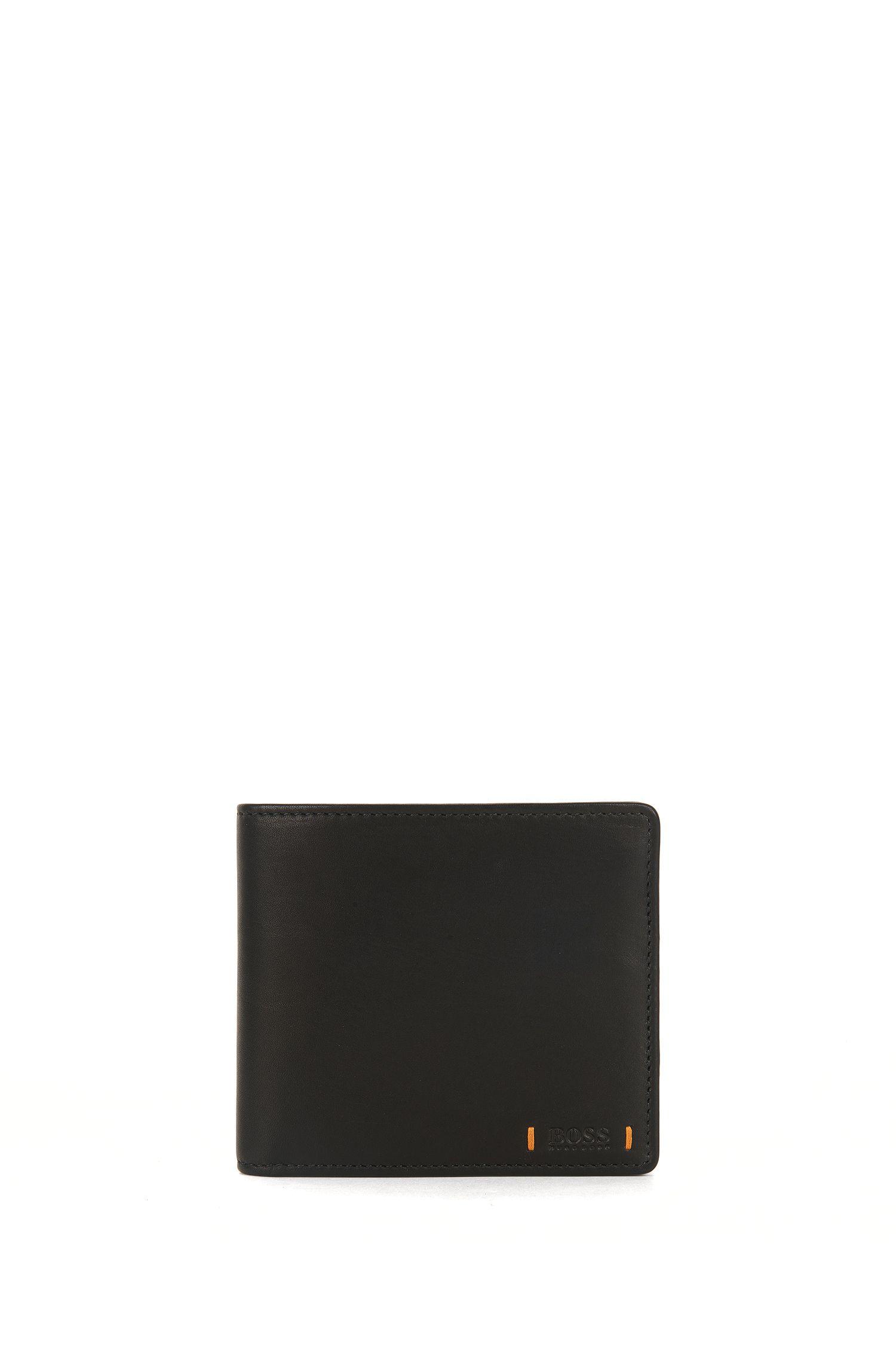 Klapp-Geldbörse aus Leder mit Münzfach