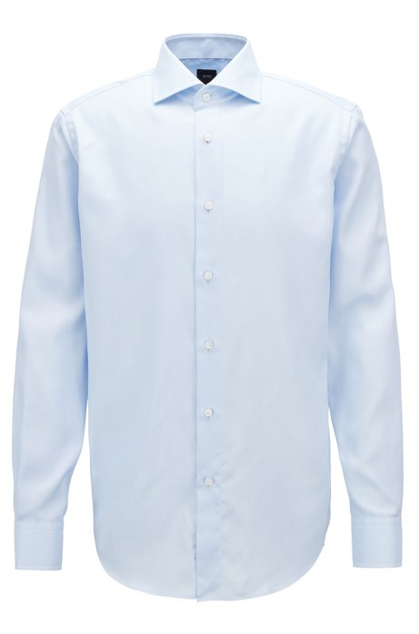 e729a2537 BOSS - Regular-fit travel shirt in wrinkle-resistant twill cotton