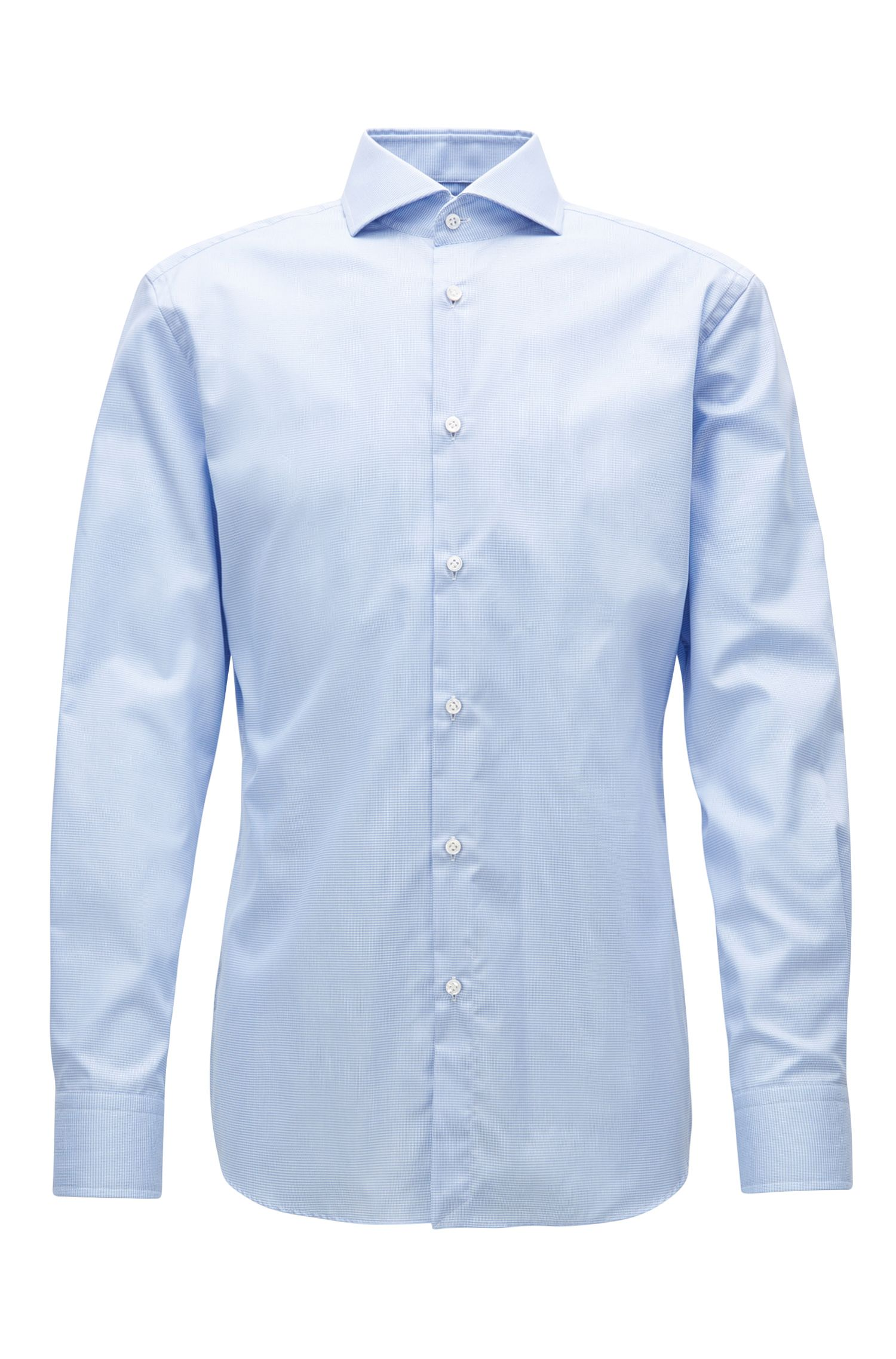 Camicia slim fit in cotone antipiega