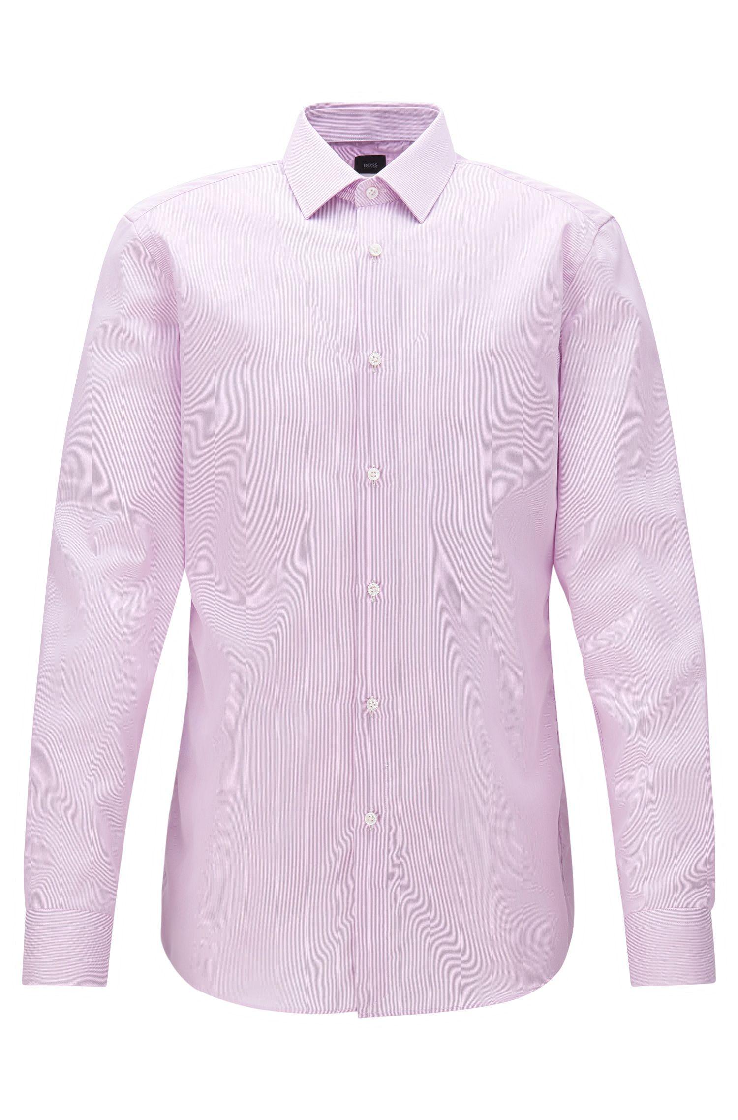 Slim-fit overhemd in een gestreepte katoentwill