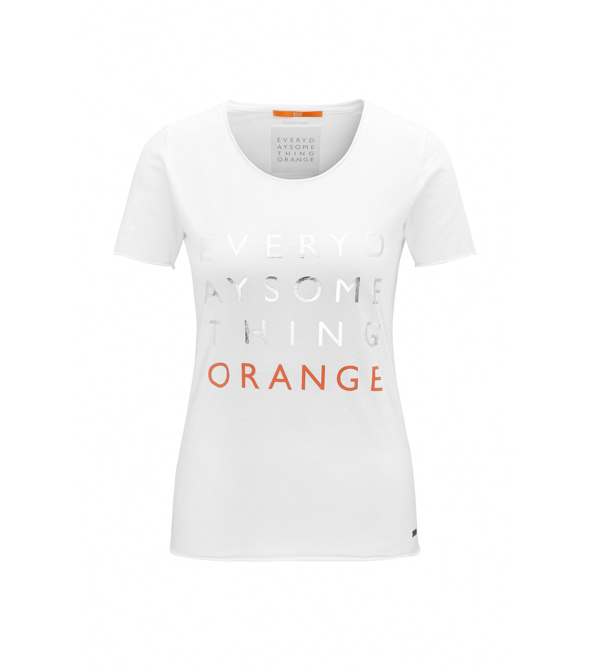 Slim-Fit T-Shirt aus Single Jersey, Weiß