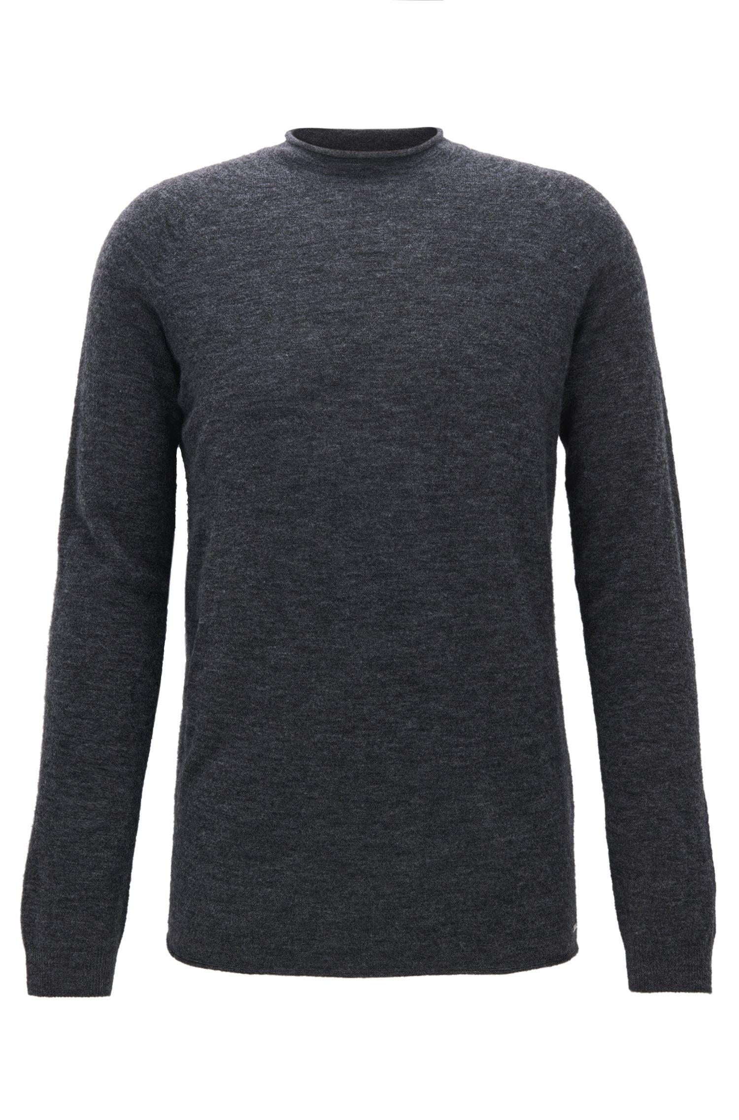 Pull sans couture en laine mélangée