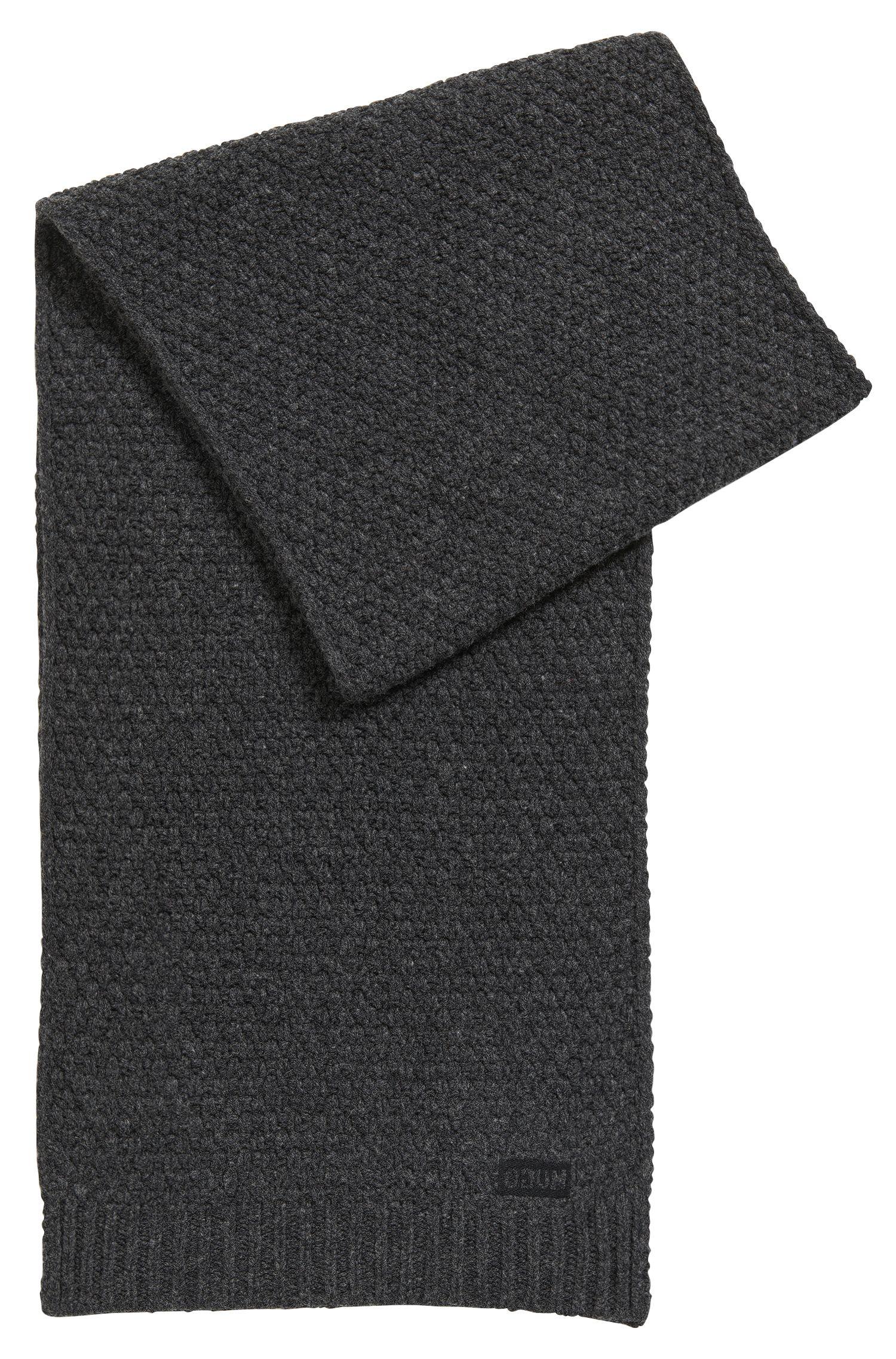 Gebreide sjaal in een jacquard van scheerwol