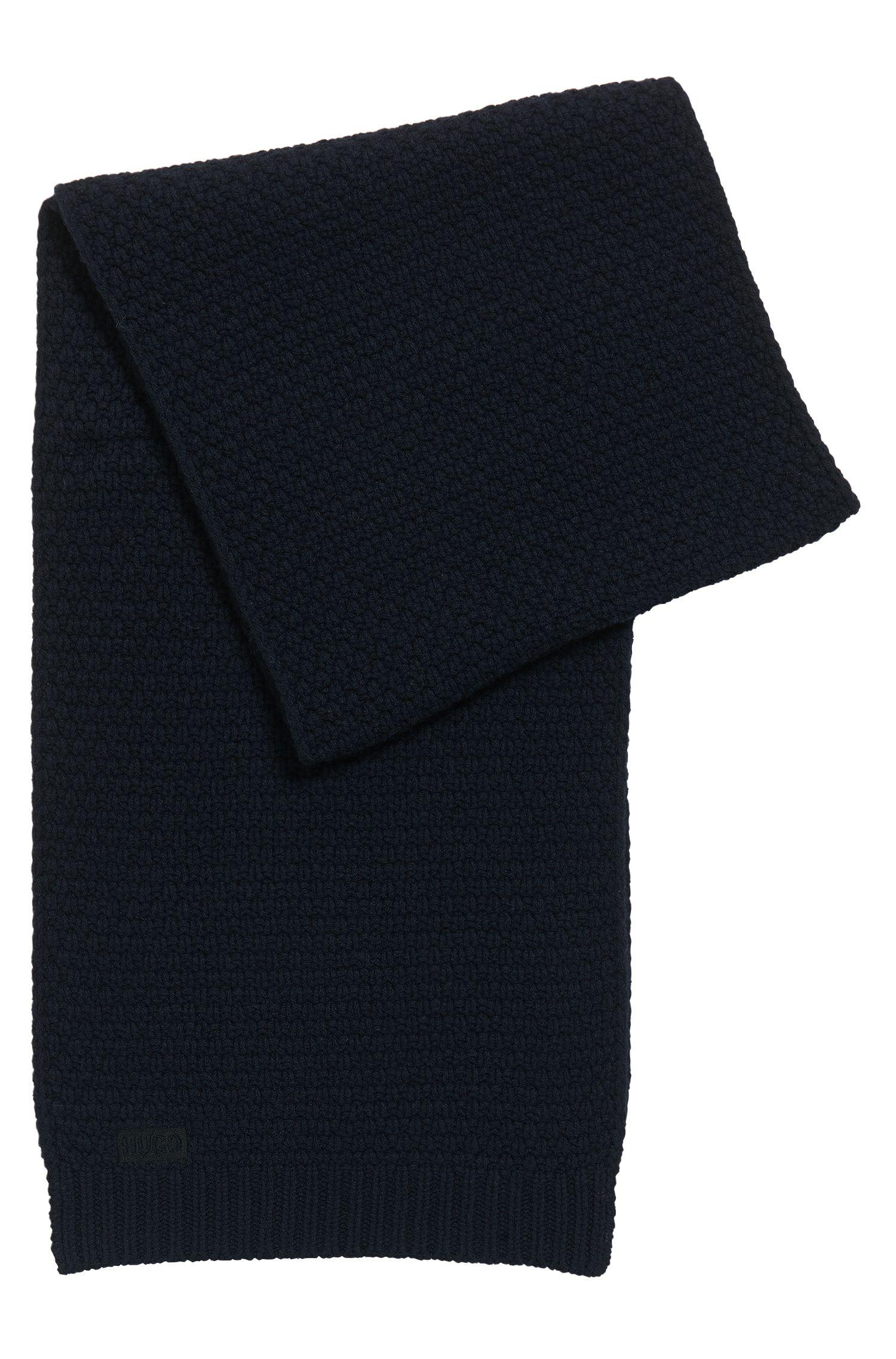 Gestrickter Jacquard-Schal aus Schurwolle