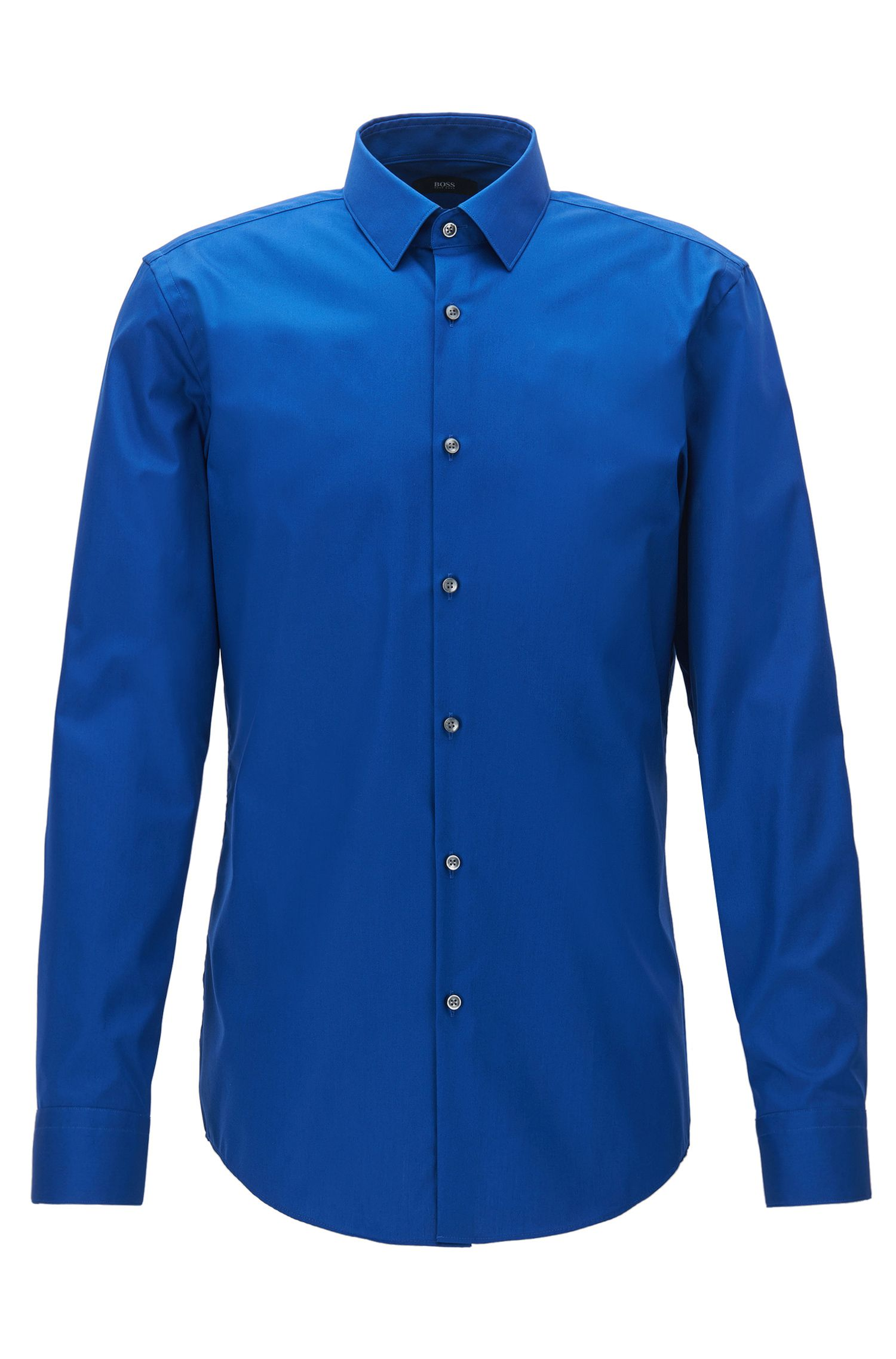 Slim-fit shirt in easy-iron cotton poplin