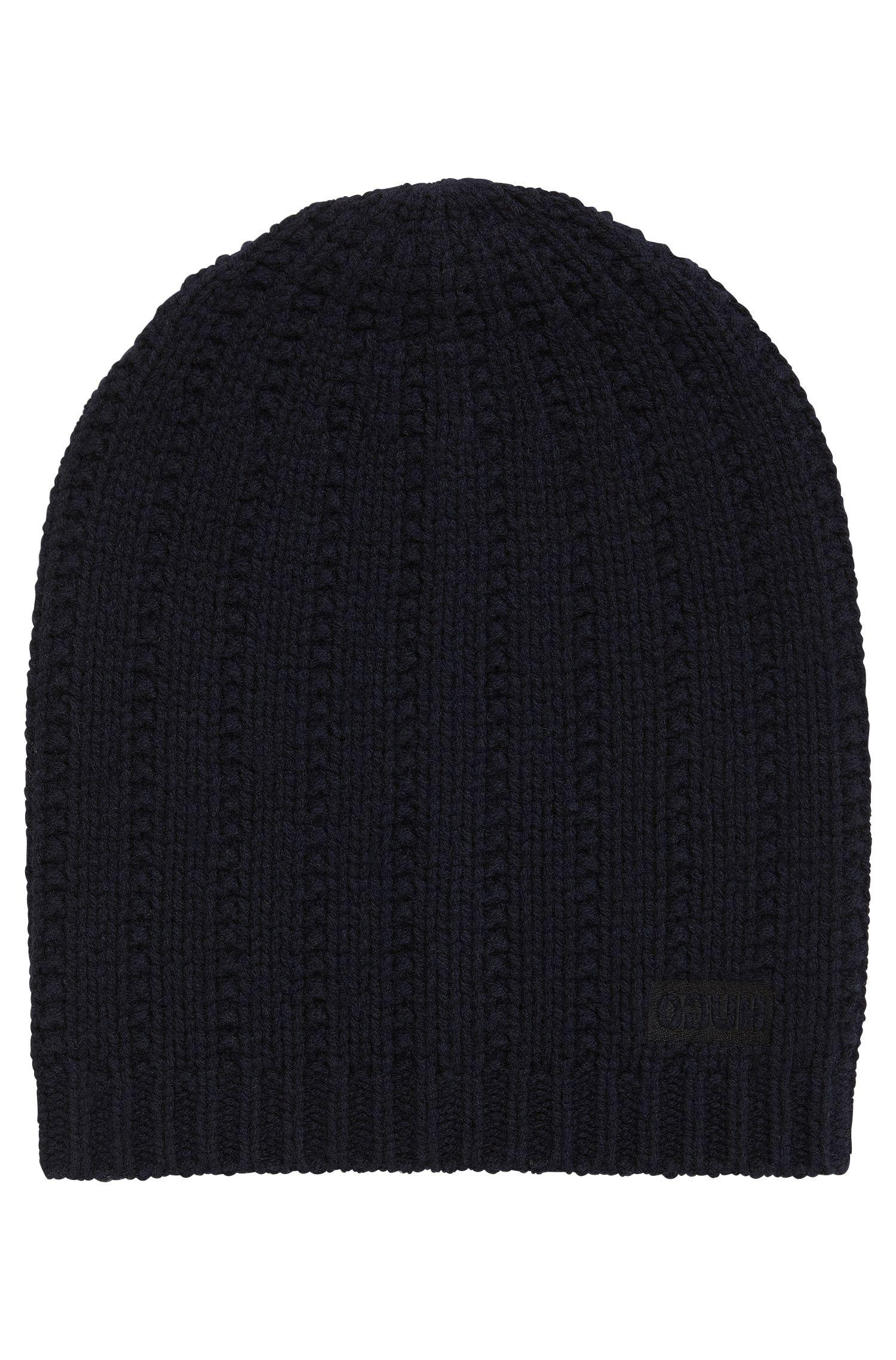 Strukturierte Mütze aus Schurwolle