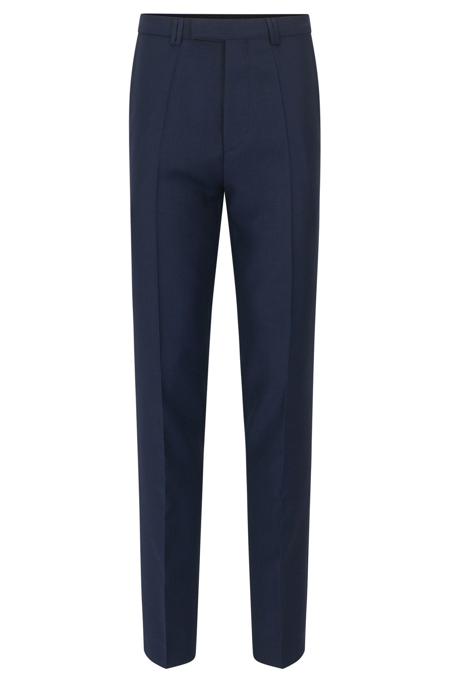 Pantalón extra slim fit en lana virgen con microestampado