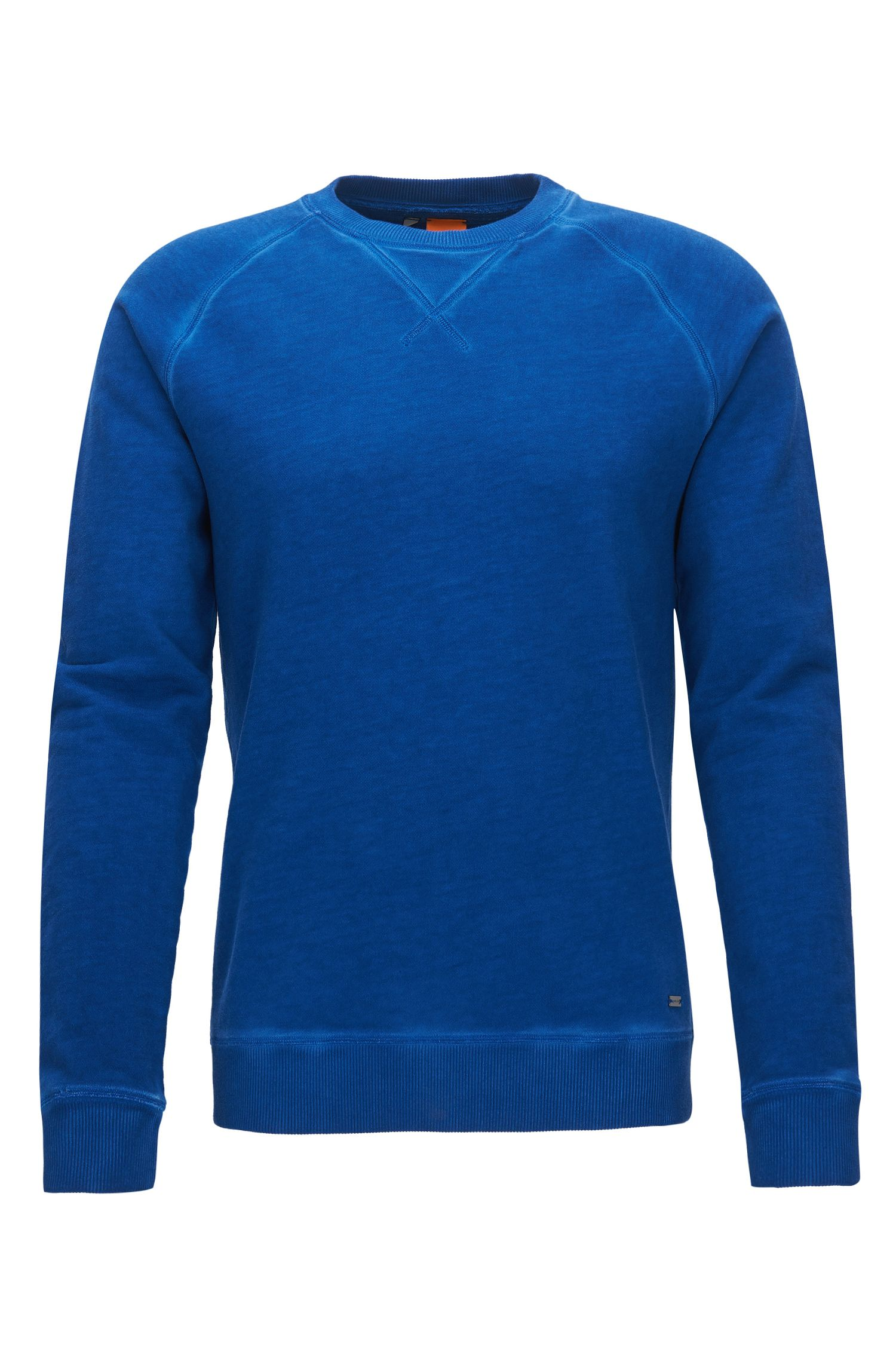 Garment-dyed sweater in midweight cotton