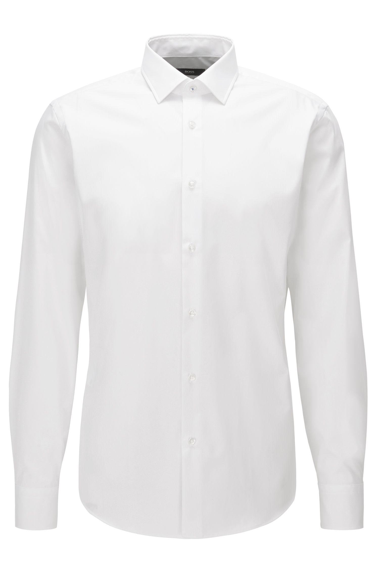 Regular-fit overhemd van gemakkelijk te strijken katoen