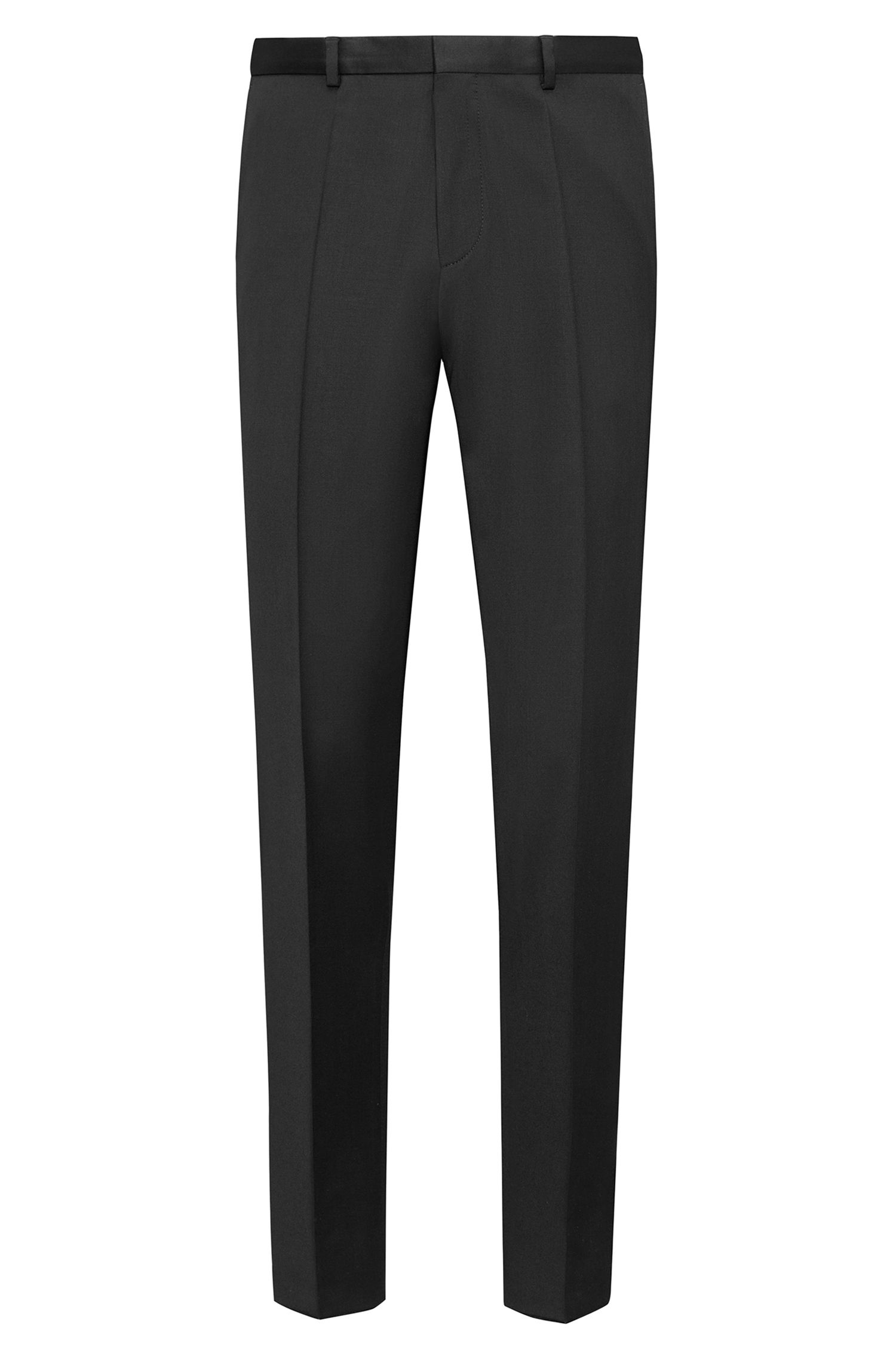 Extra-slim-fit trousers in pigment-dyed virgin wool