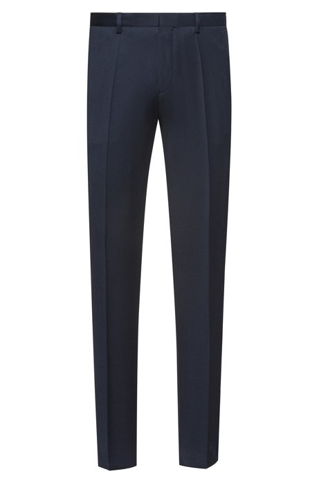 Extra slim-fit pantalon van pigment-dyed scheerwol, Donkerblauw